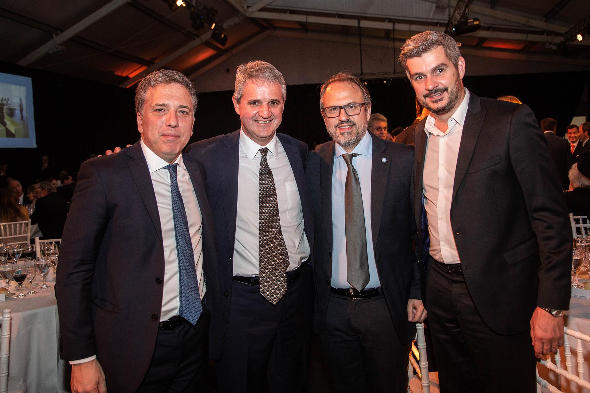 Nicolás Dujovne, Juan José Cruces, Diego Valenzuela y Marcos Peña