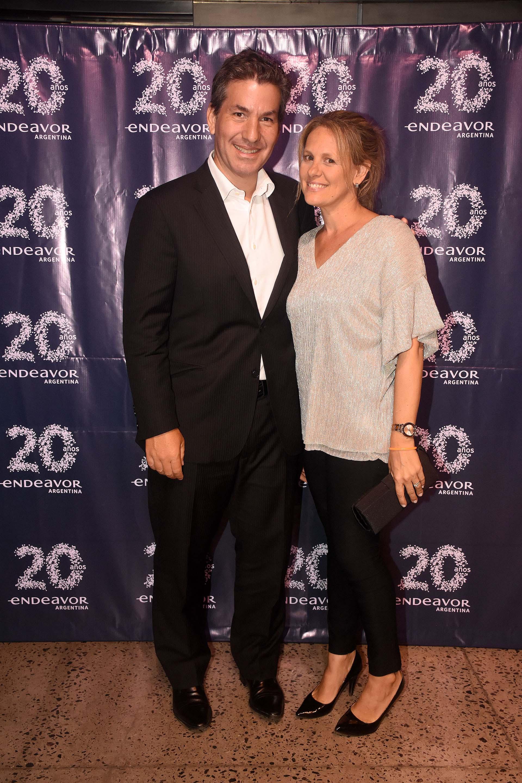 Andy Freire, ex ministro de Modernización, Innovación y Tecnología de la Ciudad de Buenos Aires y Romina, su esposa