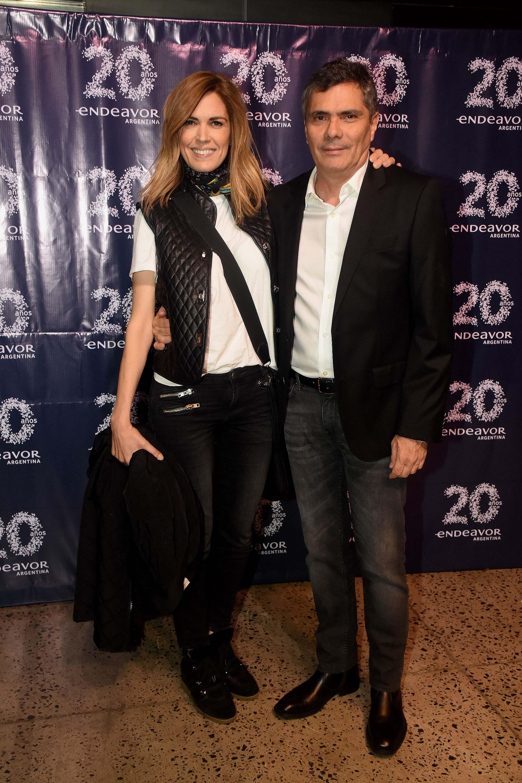 La conductora y periodista, Viviana Canosa junto a su esposo Alejandro Borensztein