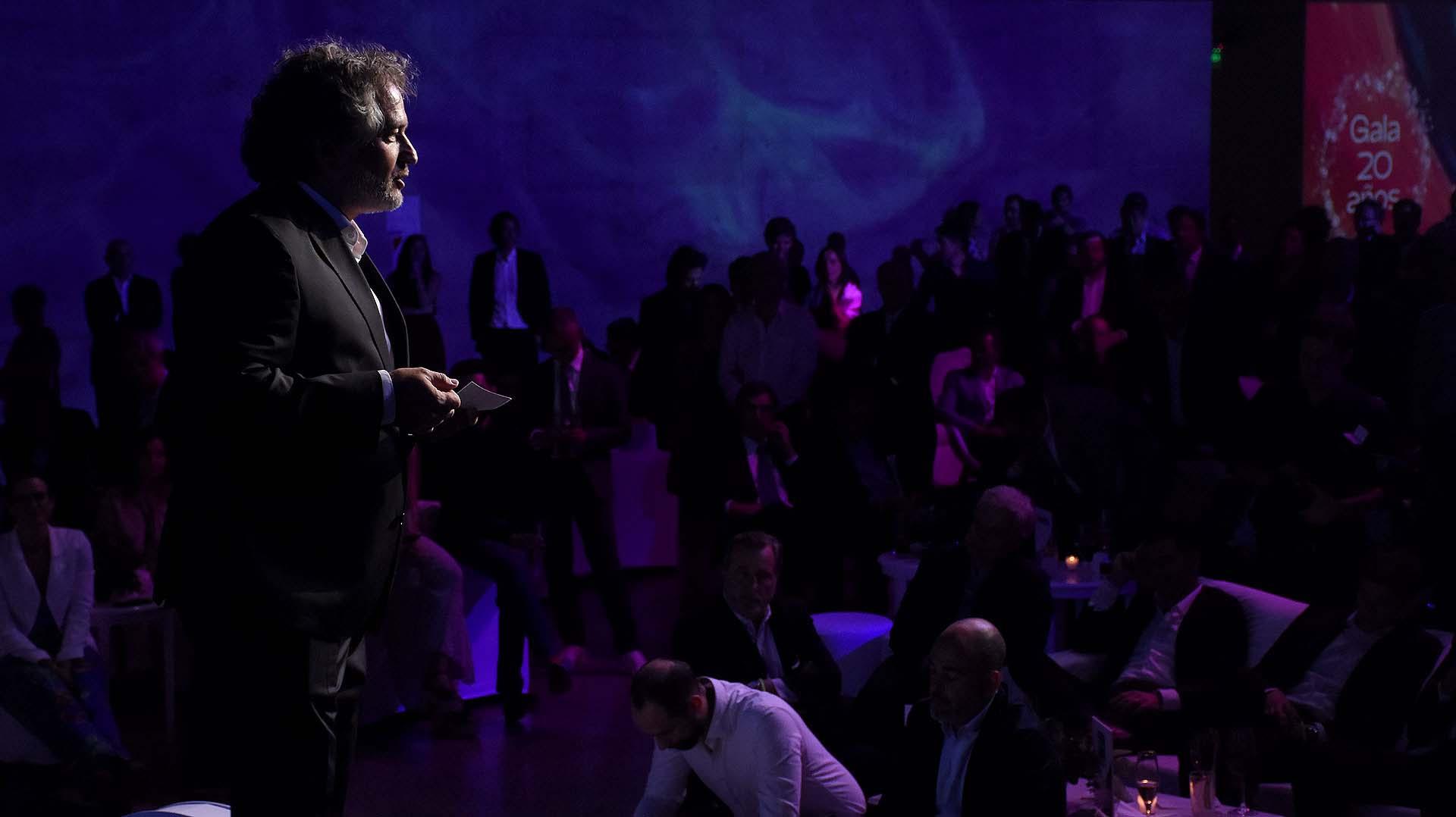 Guibert Englebienne, presidente de Endeavor Argentina y CFO de Globant habla al auditorio