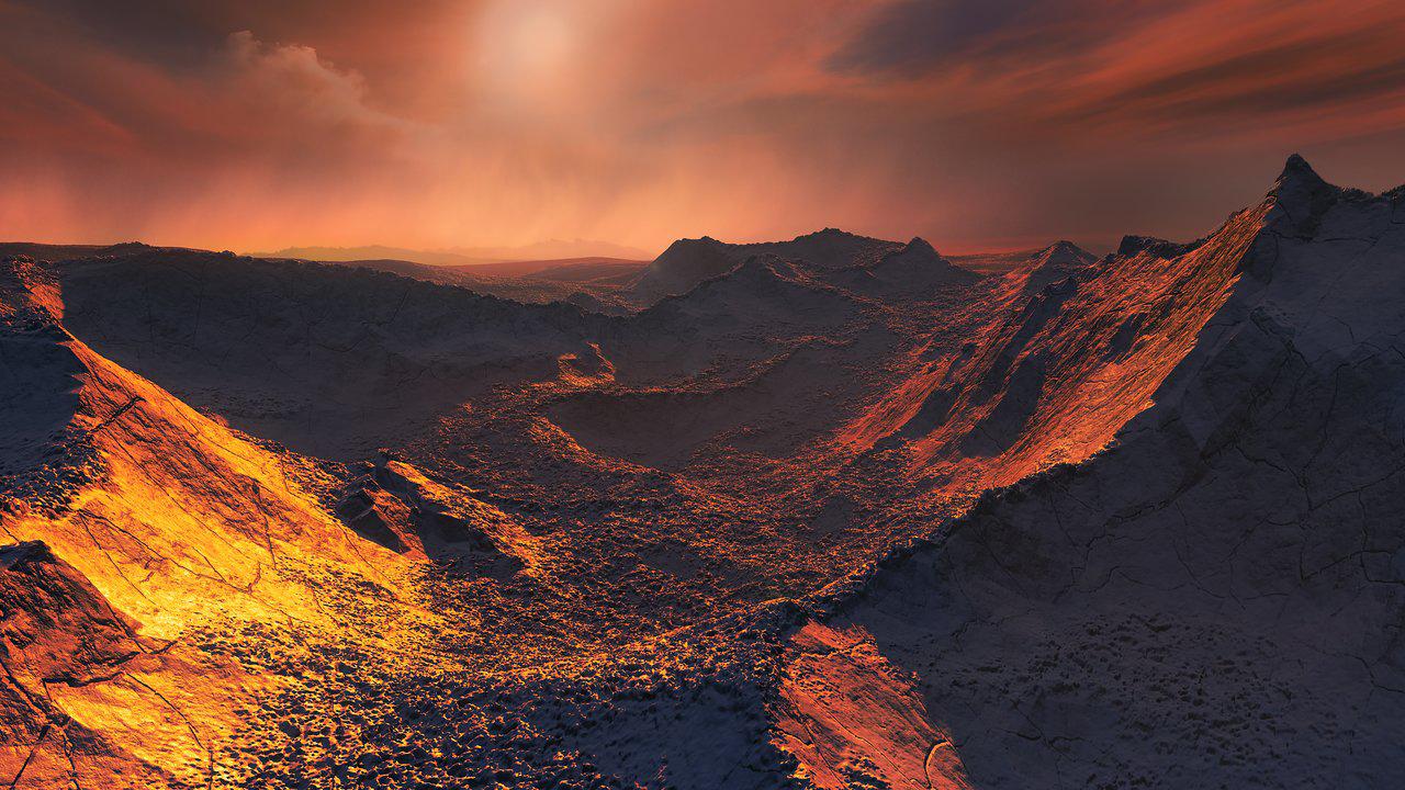 Un artista ilustra la superficie de la Estrella de Barnard (M. Kornmesser/European Southern Observatory)