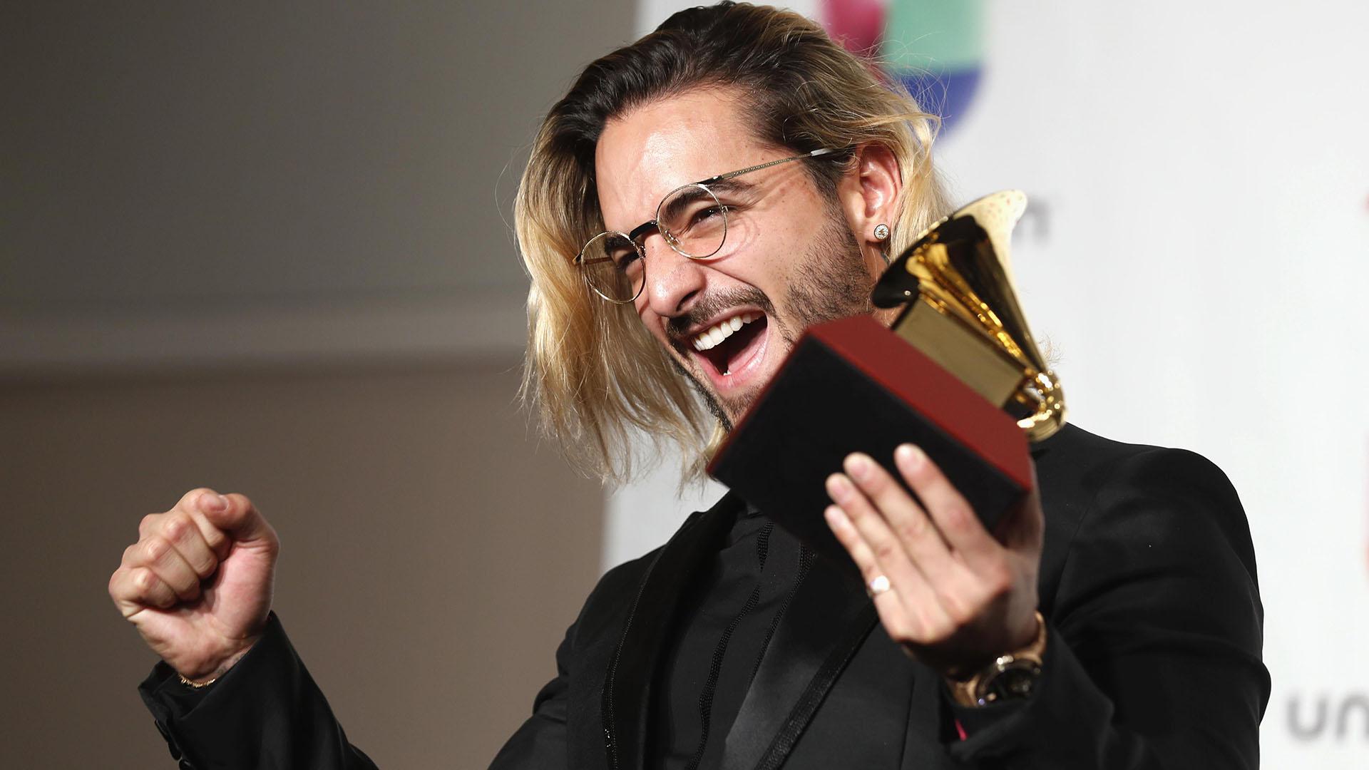 Maluma obtuvo el premio en la categoría álbum pop contemporáneo