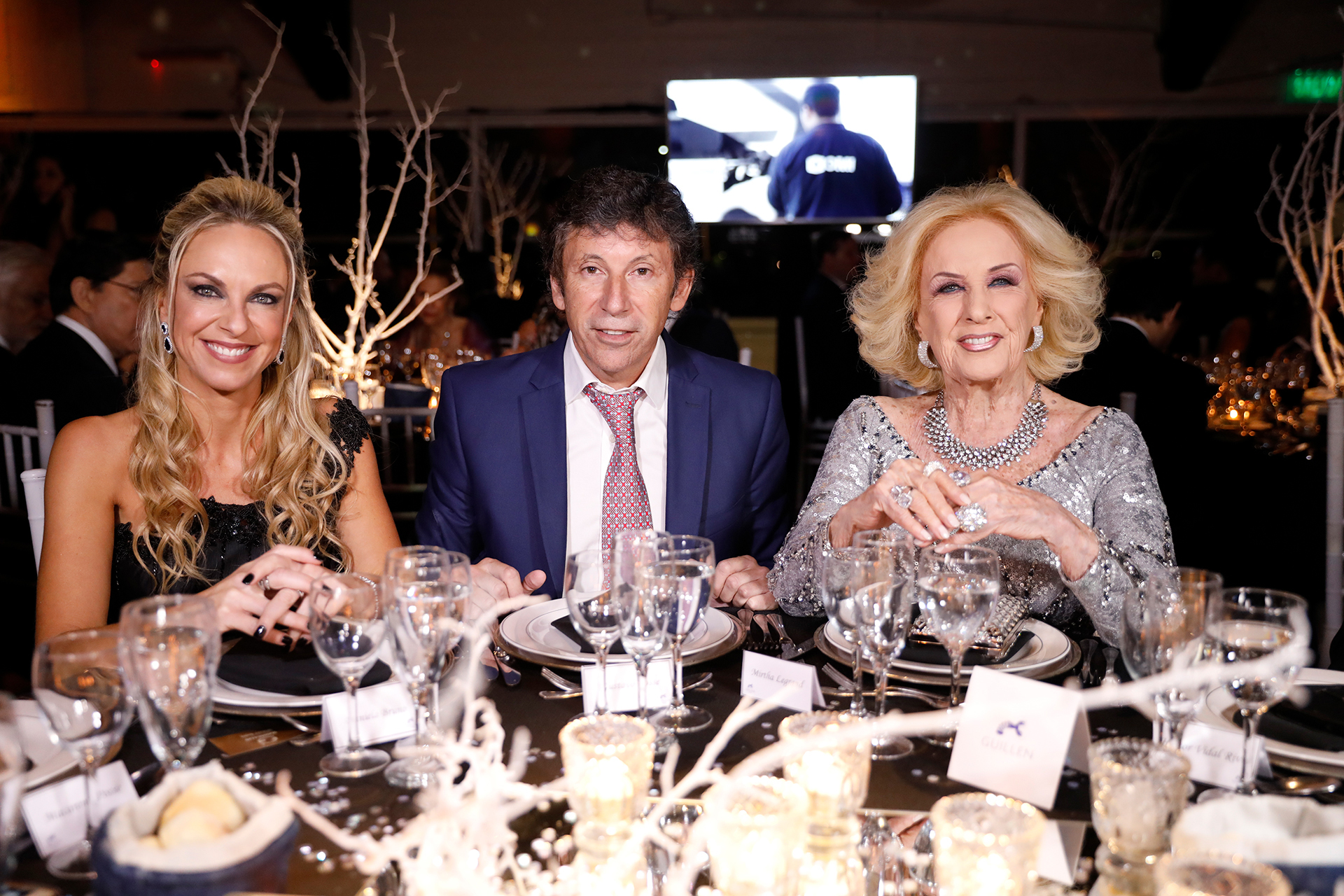 Daniela Bruno, Gustavo Posse y Mirtha Legrand