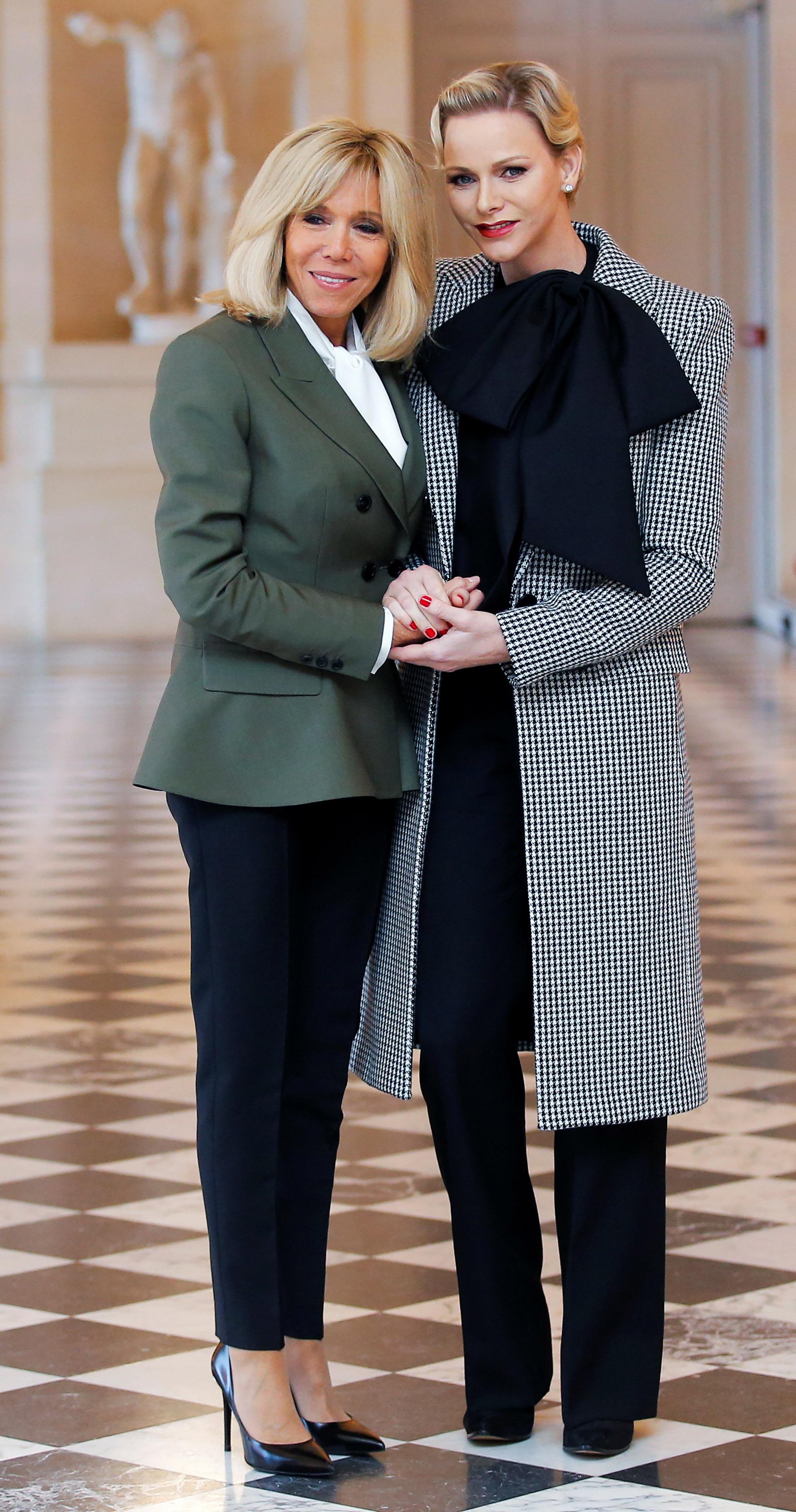 Brigitte Macron y Charlene de Mónaco en Francia | Aires de ...