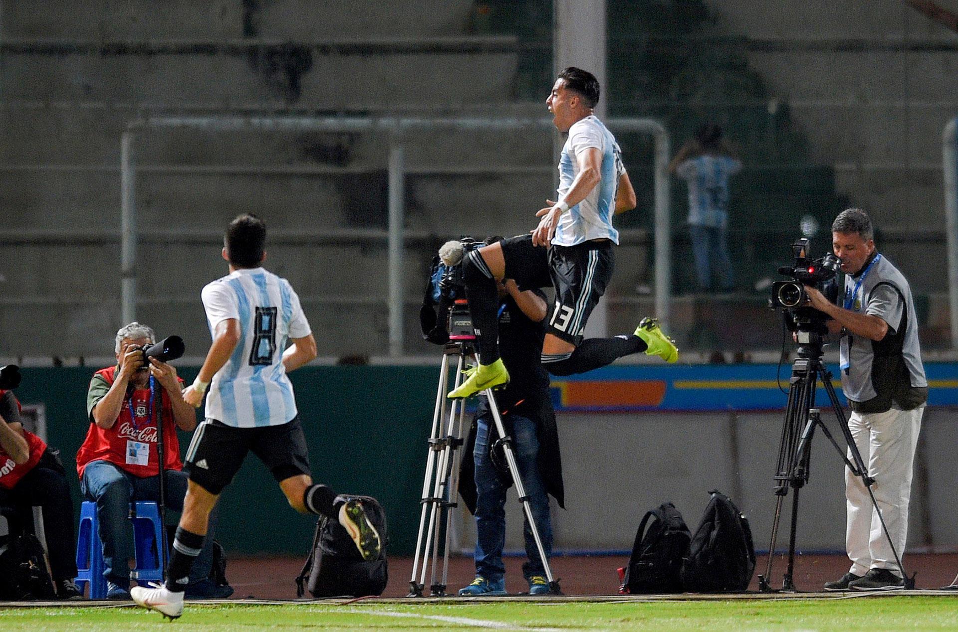 Ramiro Fune Mori abrió la cuenta para la Albiceleste (Reuters)