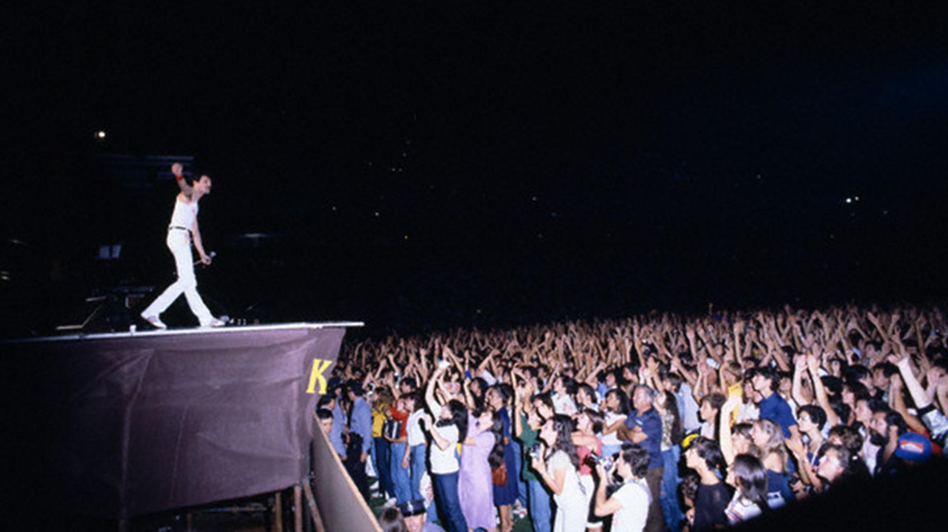 Freddie Mercury hizo vibrar al público argentino