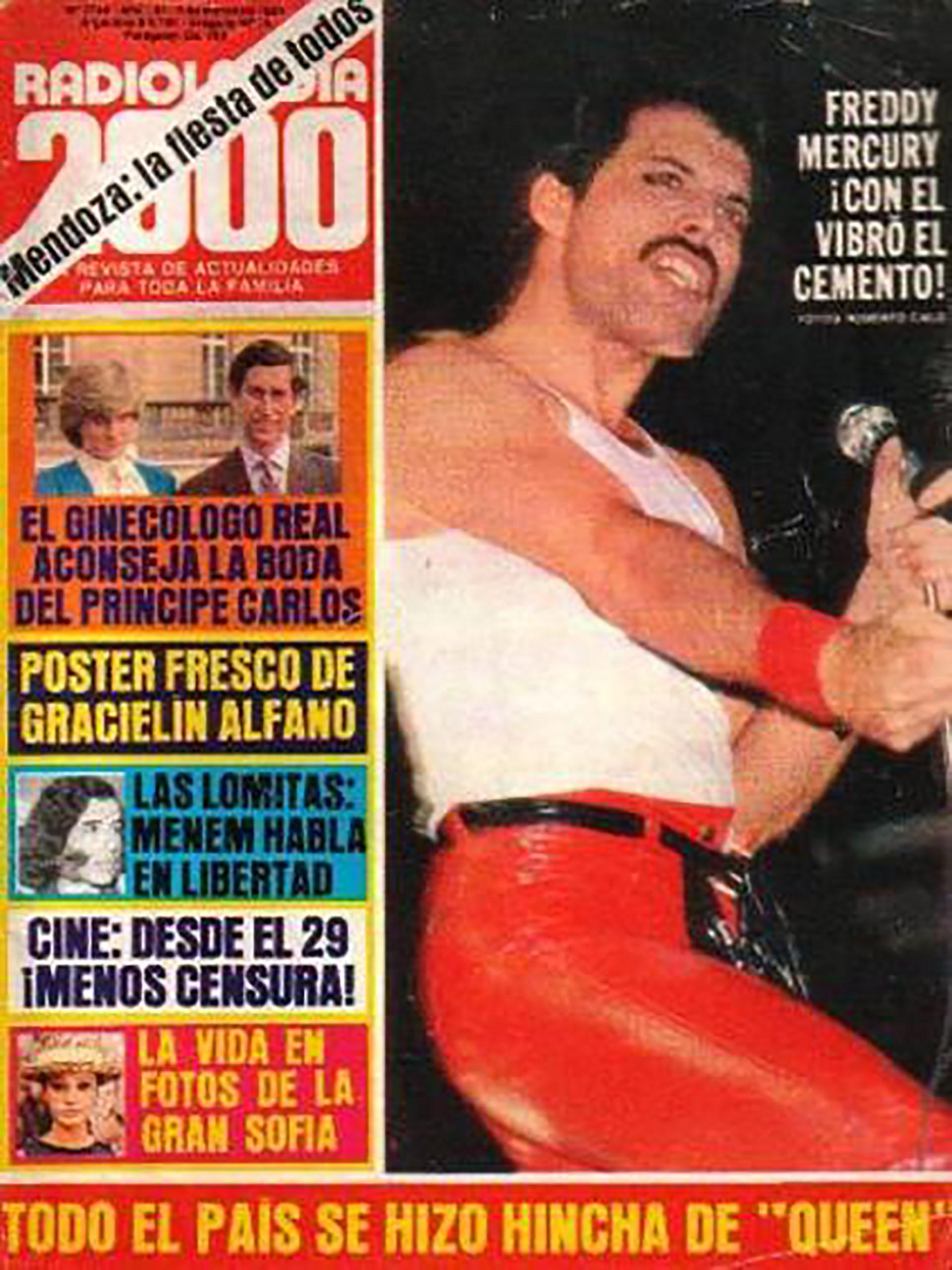 Otra de las revistas argentinas que mostró la presencia del grupo en el país
