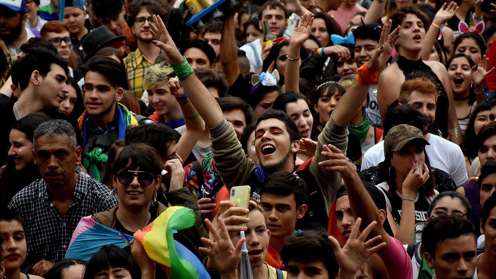 En Plaza de Mayo, hubo varios shows musicales con el cierre de Jimena Barón