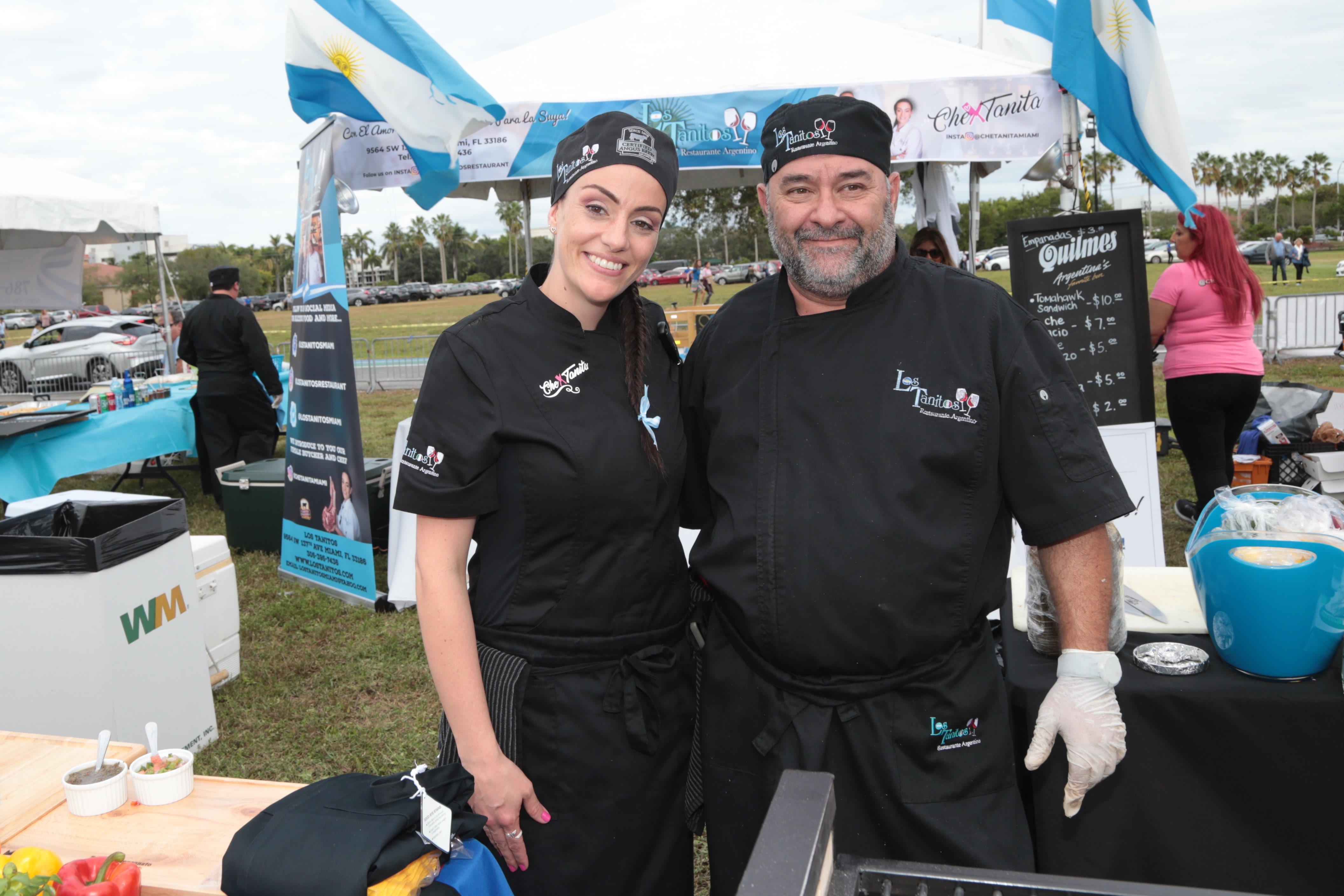 Carla Di Lorenzo y Pedro Siciliano, el equipo de Los Tanitos.
