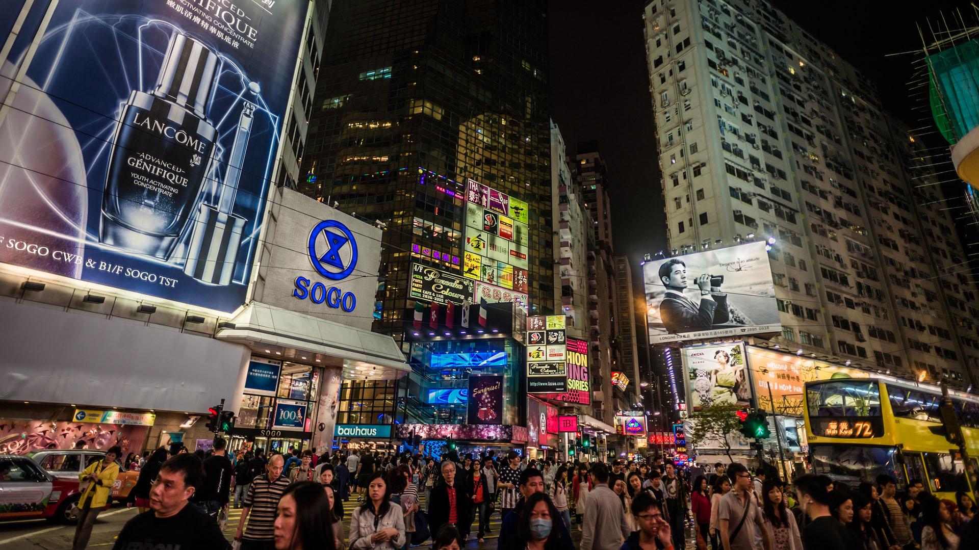 Causeway Bay, en Hong Kong, es considerada la avenida más cara del mundo