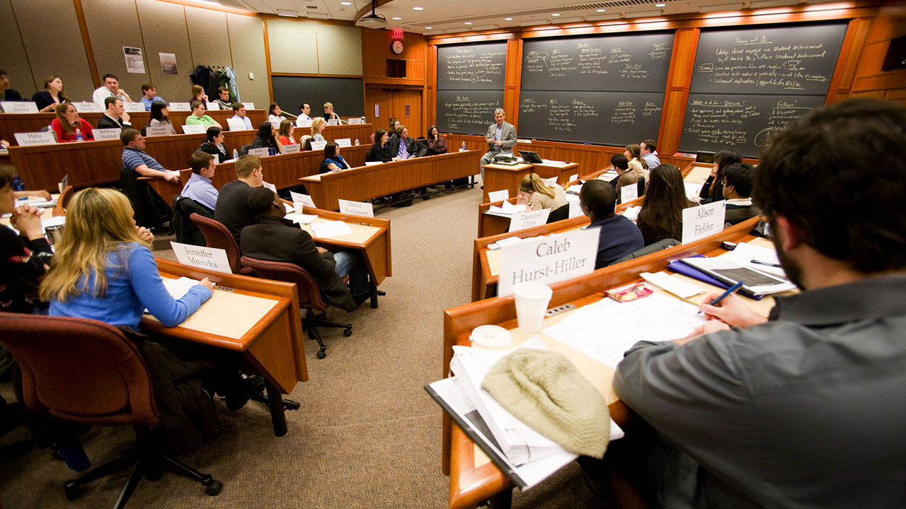 En las clases de Harvard se discuten casos reales de negocios. Gentileza HBS.