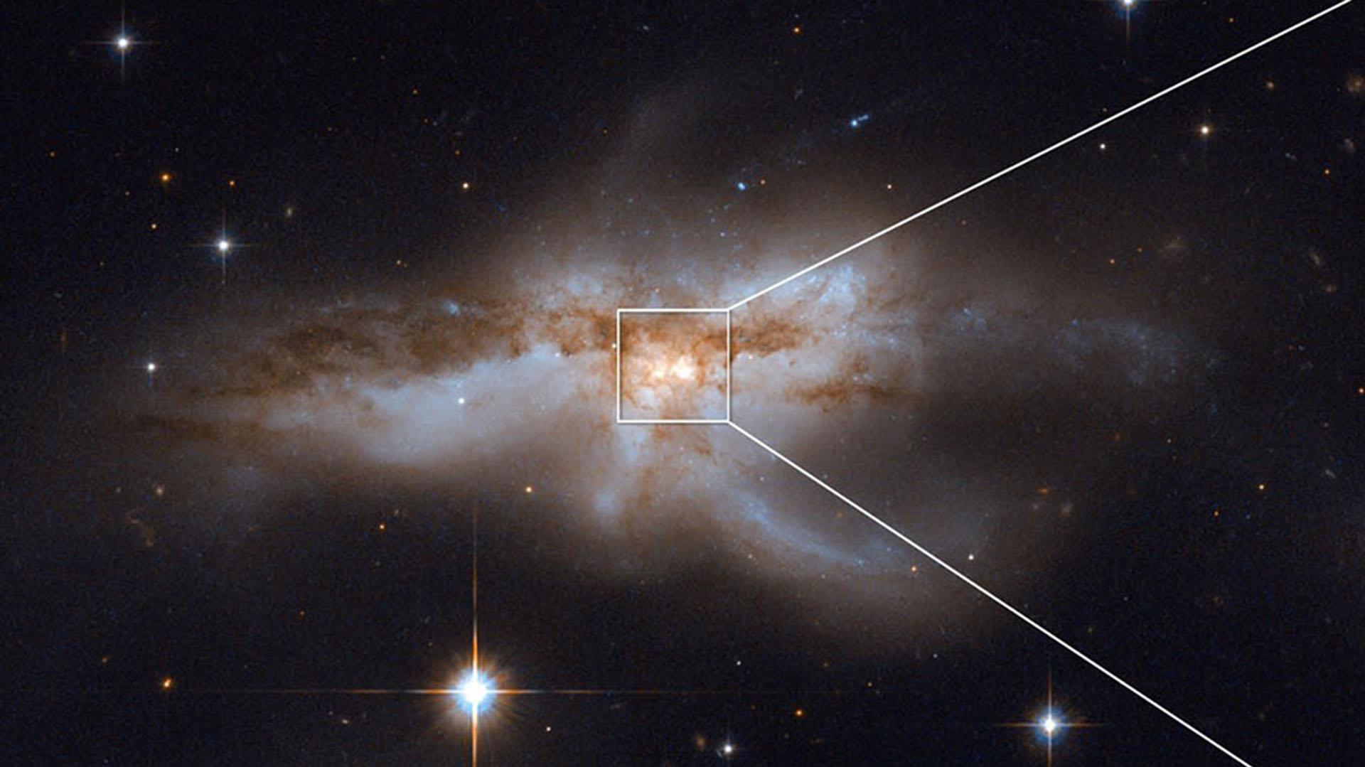 Fotografías cedida por NASA-ESA que muestra varias galaxias (EFE/NASA)