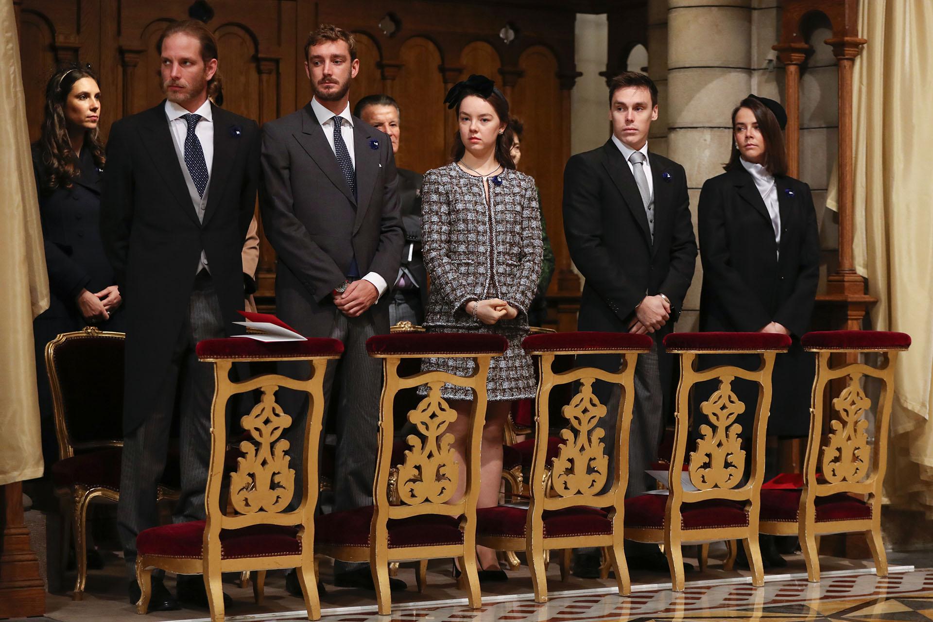 Andrea y Pierre Casiraghi, Alexandra de Hanover, y Louis y Pauline Ducruet