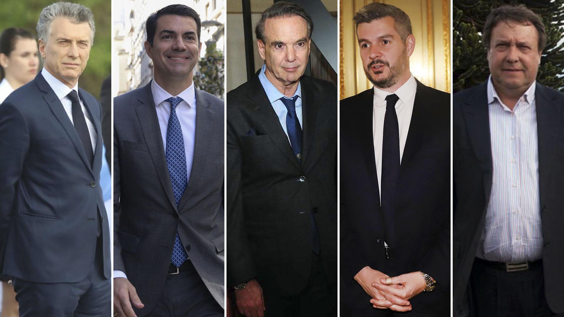 Mauricio Macri, Juan Manuel Urtubey, Miguel Ángel Pichetto, Marcos Peña y Alberto Weretilneck