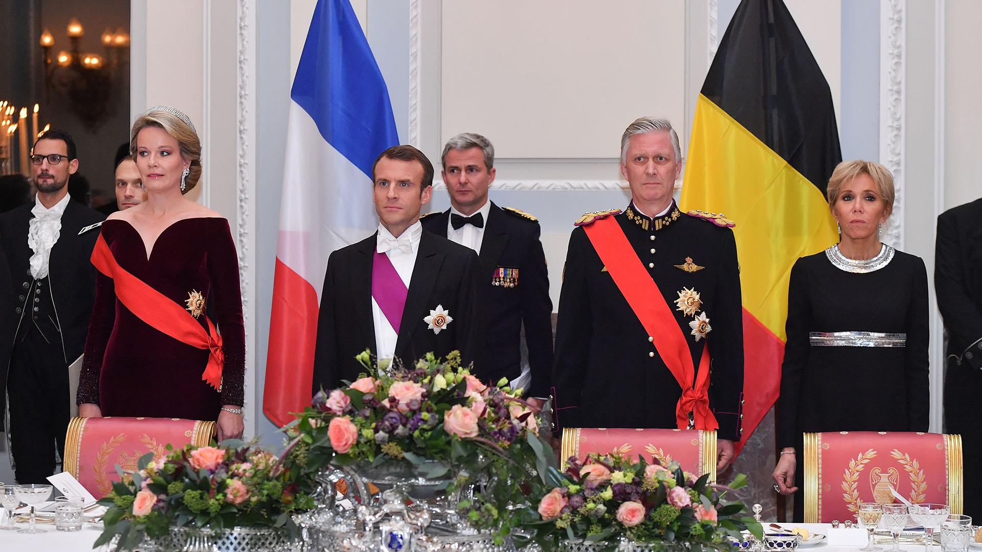 La visita a Bélgica del mandatario francés y su esposa duró dos días /// Fotos: AFP