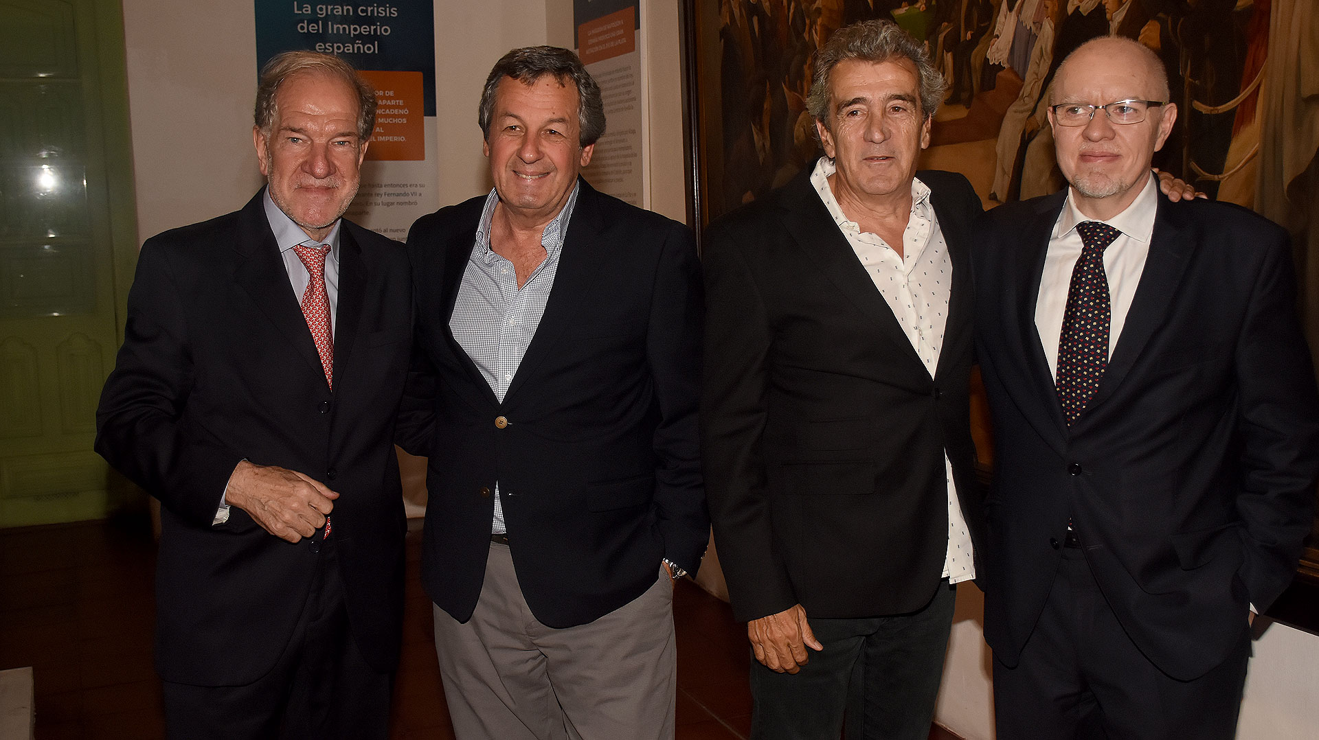 Héctor D'Amico, Jorge Porta, director de Radio Mitre; Ricardo Roa, editor general adjunto del diario Clarín, y Fernández Díaz