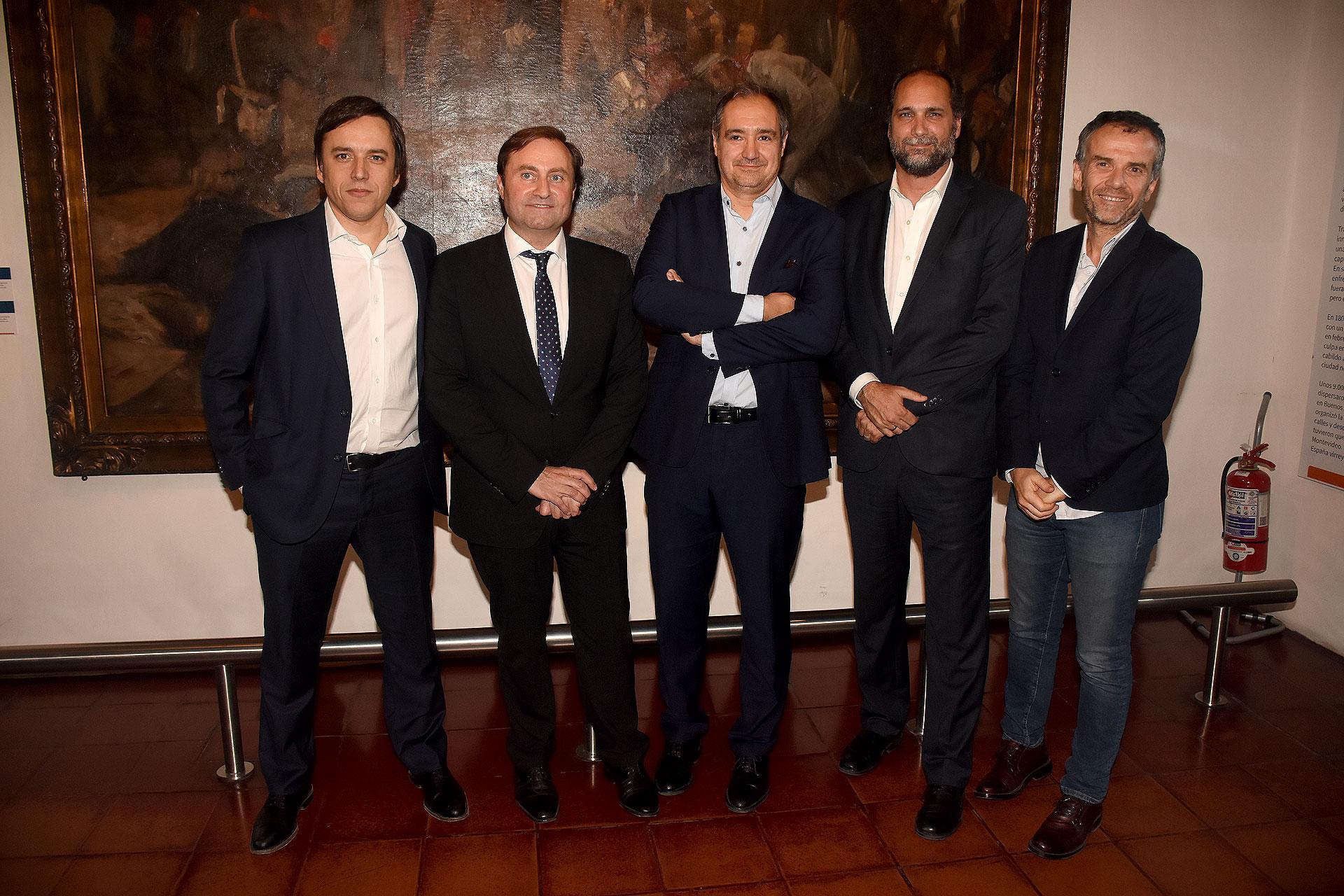 José Del Río, Néstor Sclauzero, Diego Cabot y Chani Guyot