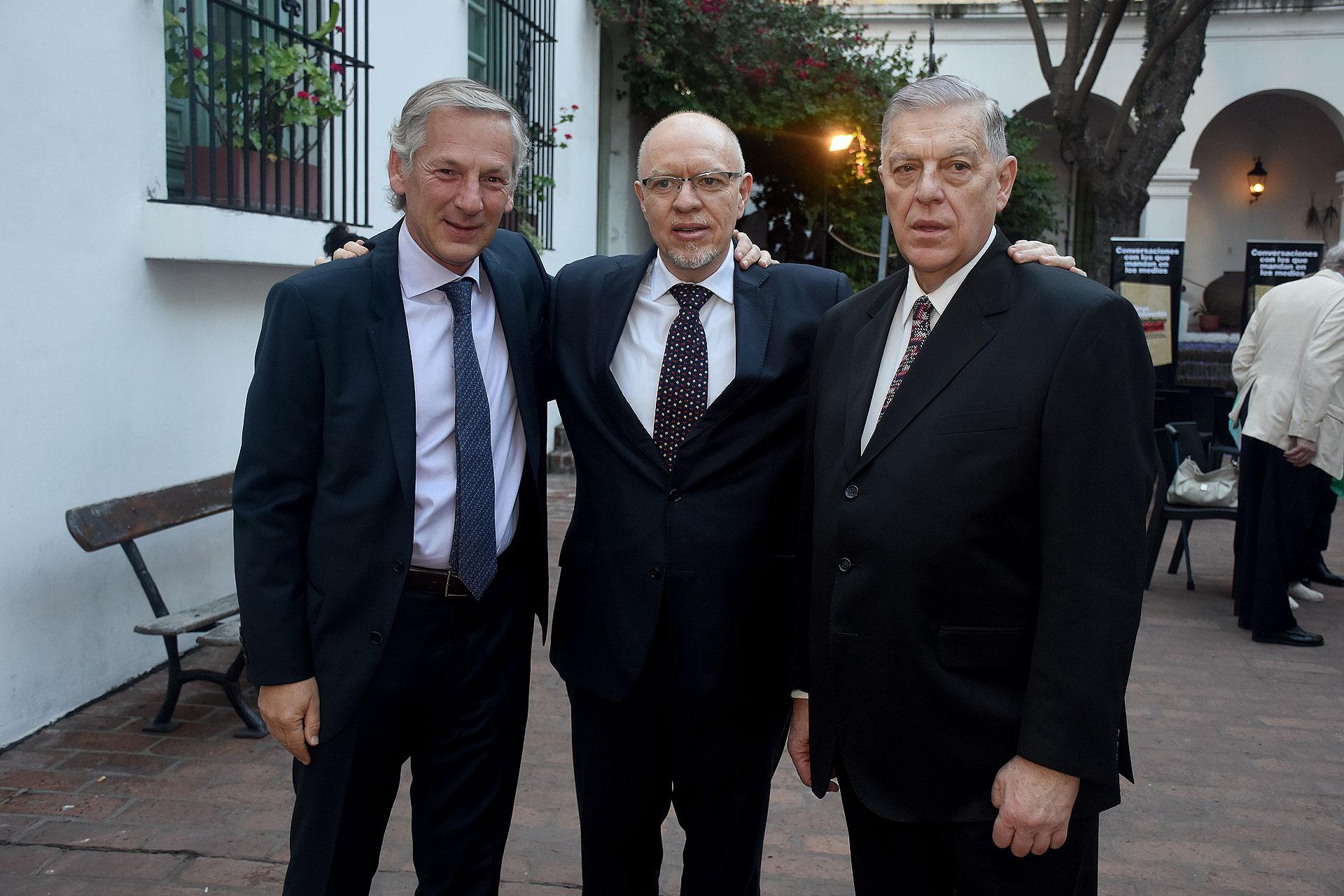 Marcelo Longobardi, Jorge Fernández Díaz y Santo Biasatti