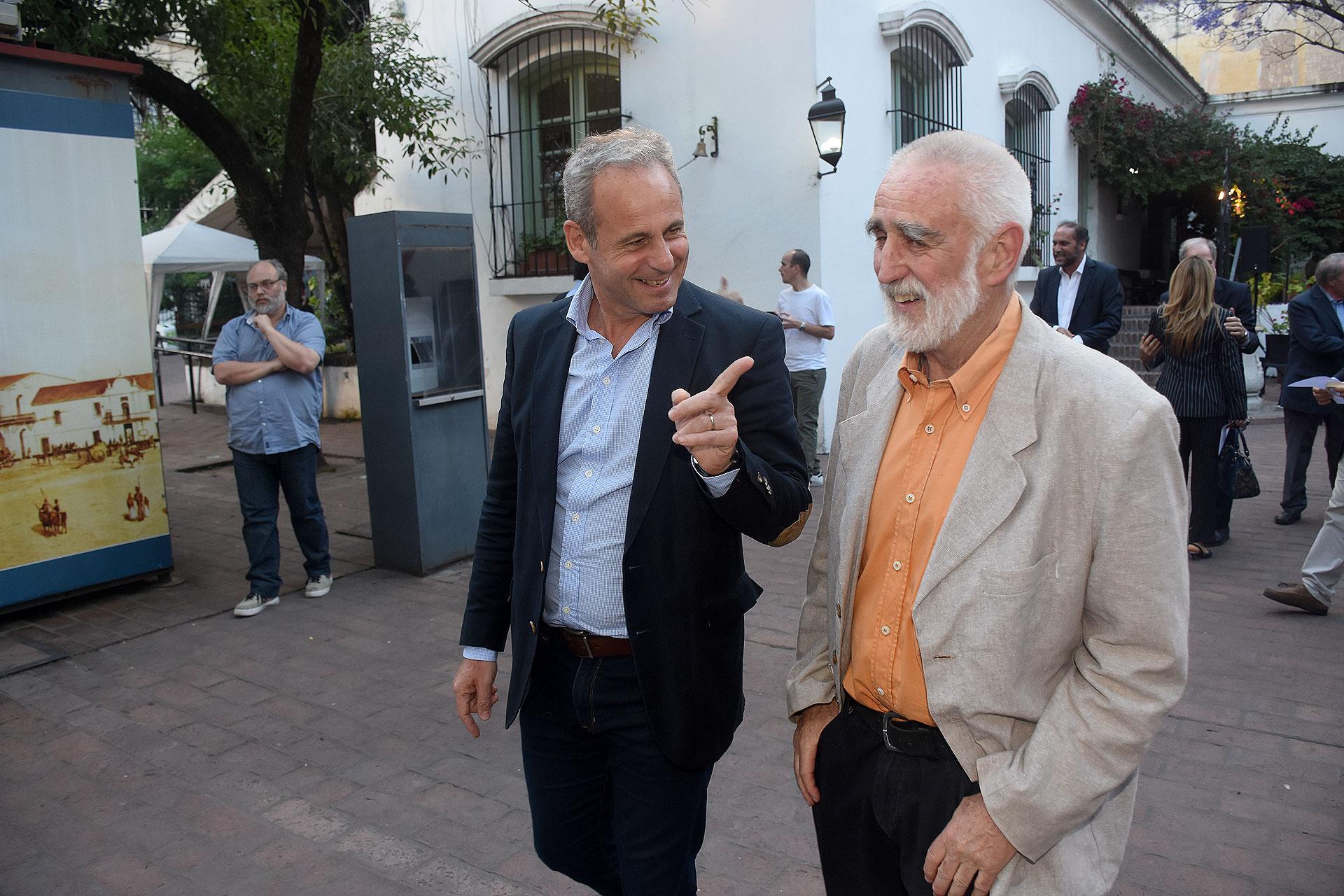 Claudio Jacquelin, del diario La Nación, y Andrew Graham-Yooll, ex director del Buenos Aires Herald