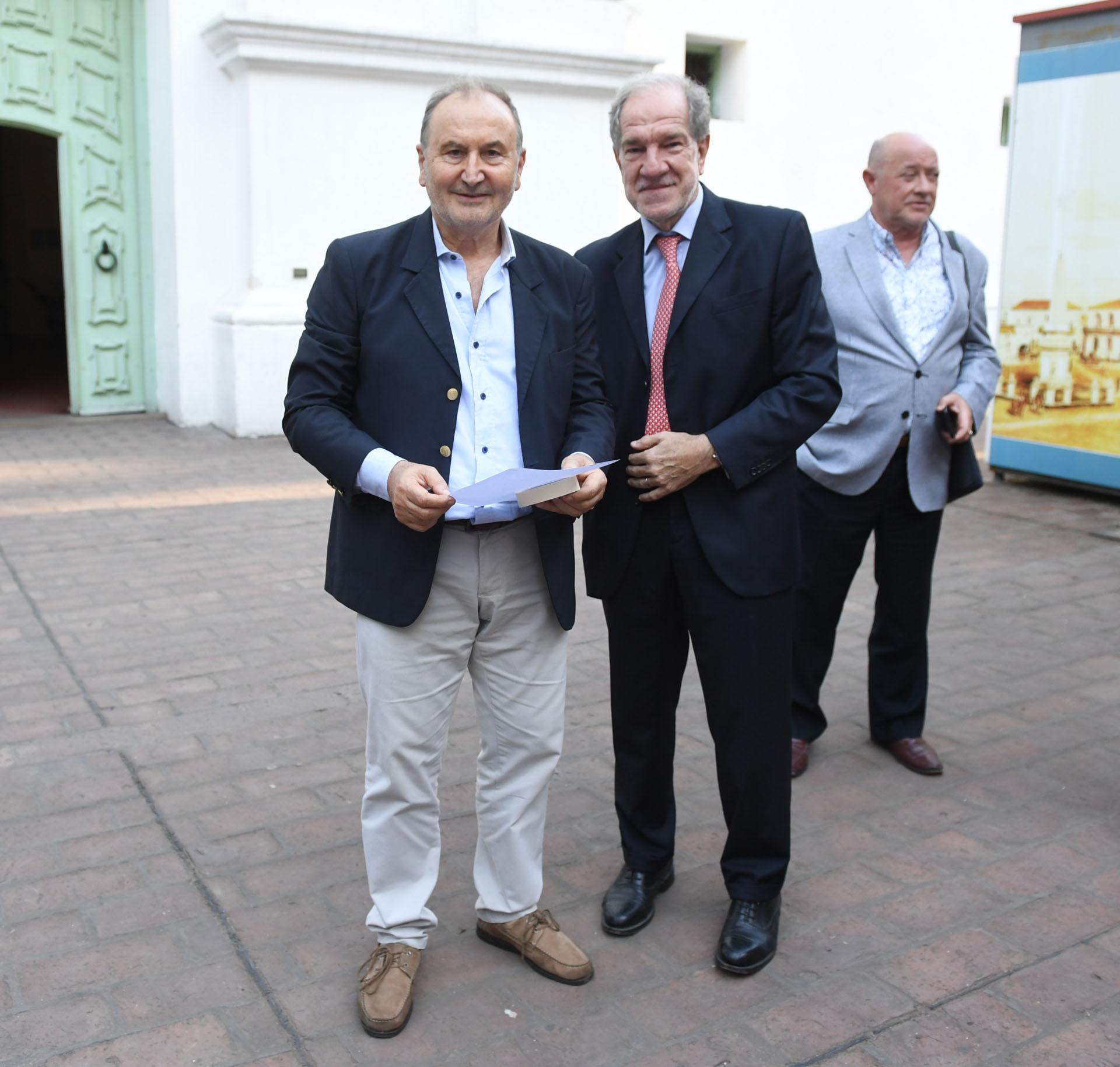Carlos Lunghi, director de Fotografía de Perfil, y Héctor D'Amico