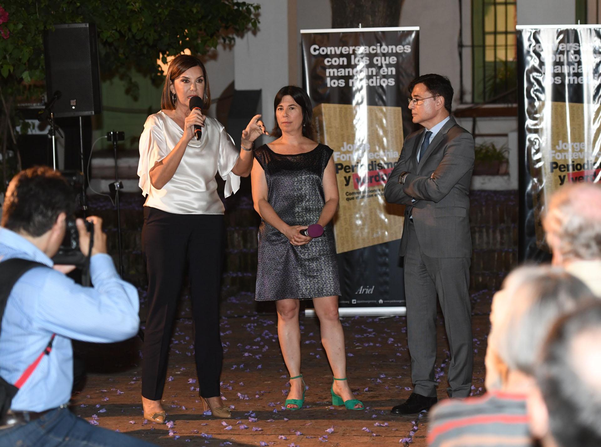 Liliana Parodi, gerenta de Programación de América, María O'Donnell y Fontevecchia