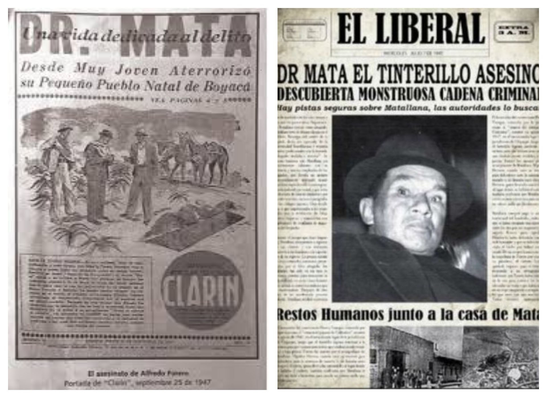 Así registraron los medios de la época la captura del 'Doctor Mata'.