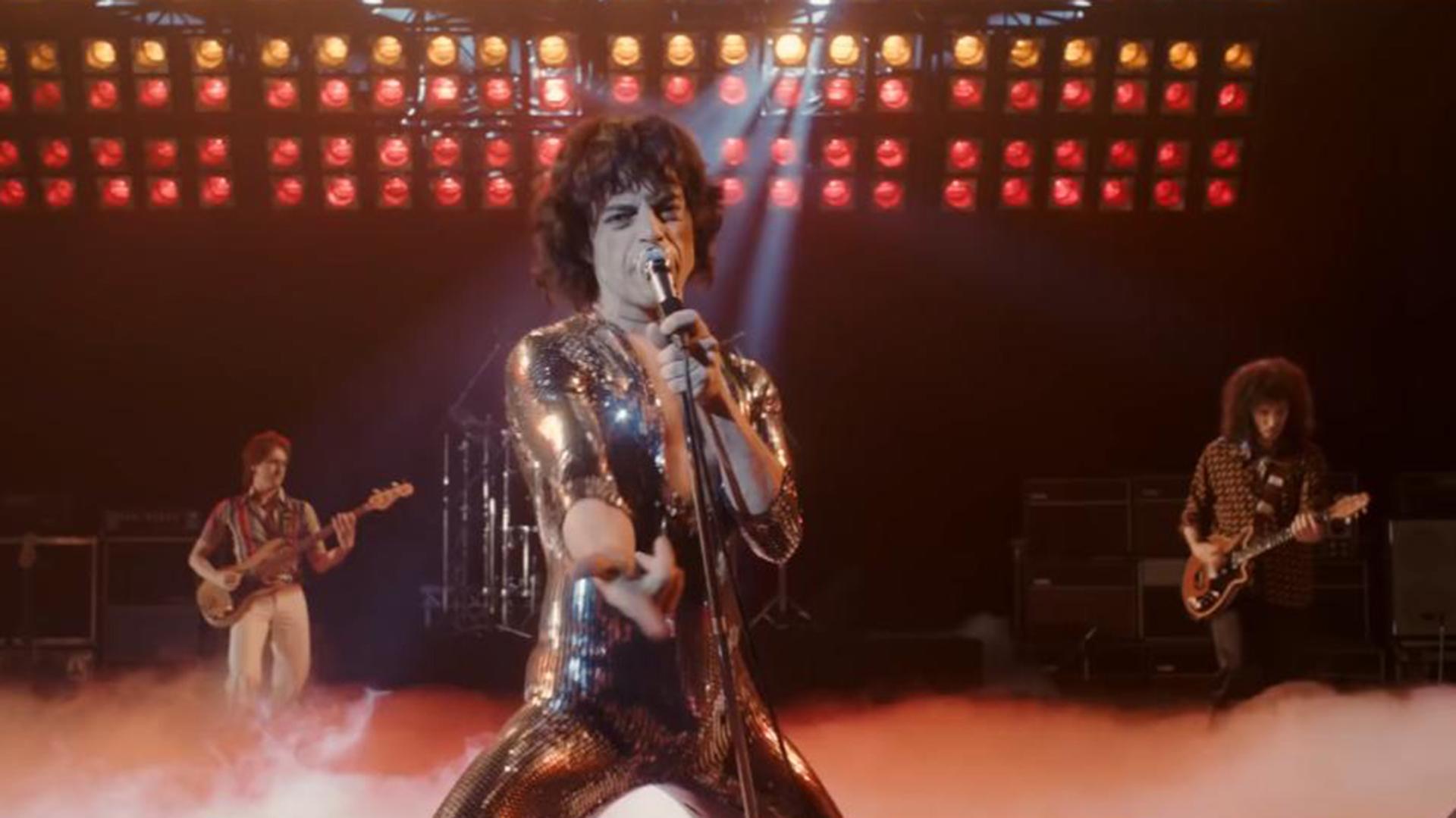 """Rami Malek en una escena de """"Bohemian Rhapsody """", película nominada como mejor drama"""
