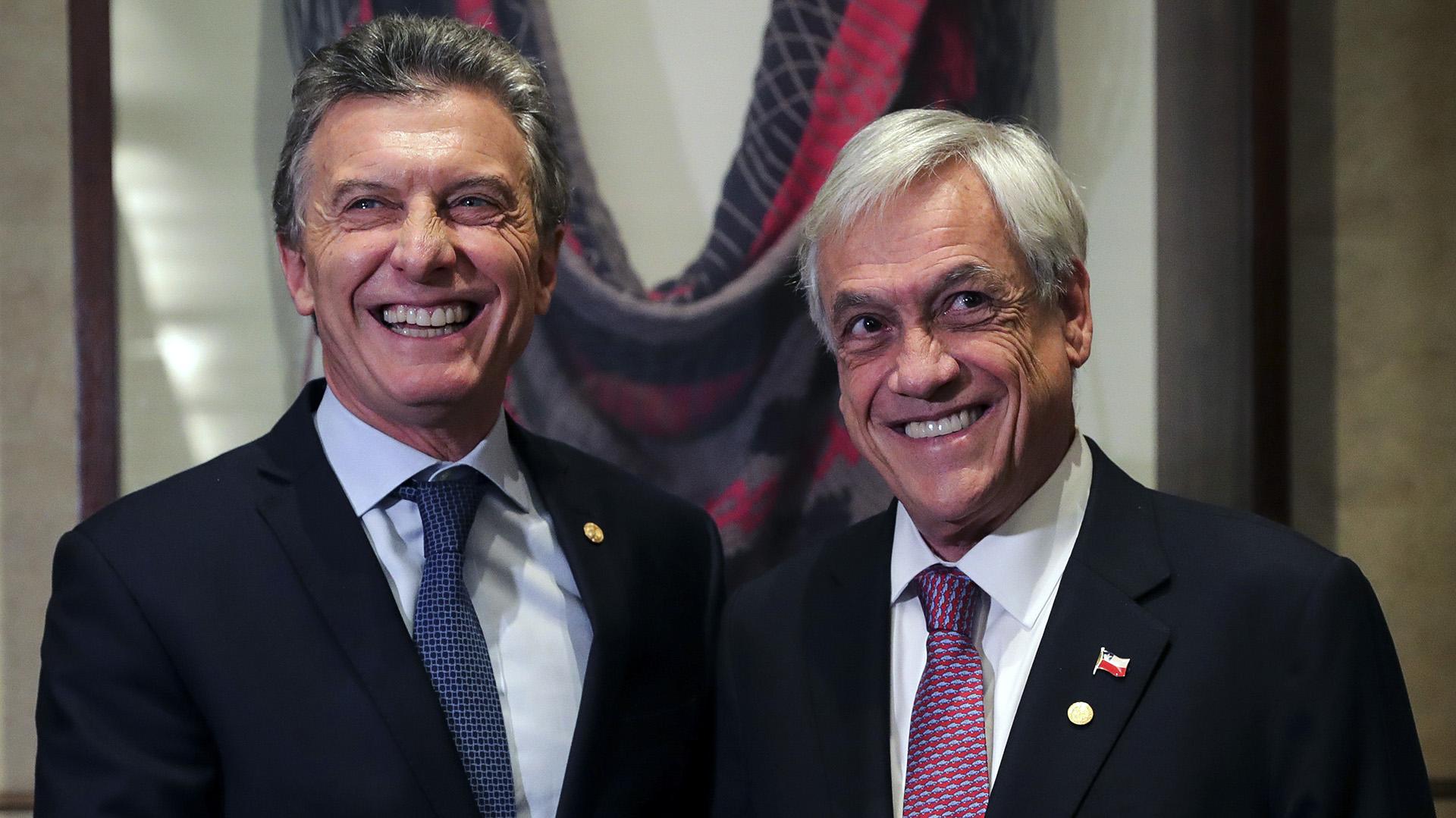 Los presidentes Sebastián Piñera y Mauricio Macri.