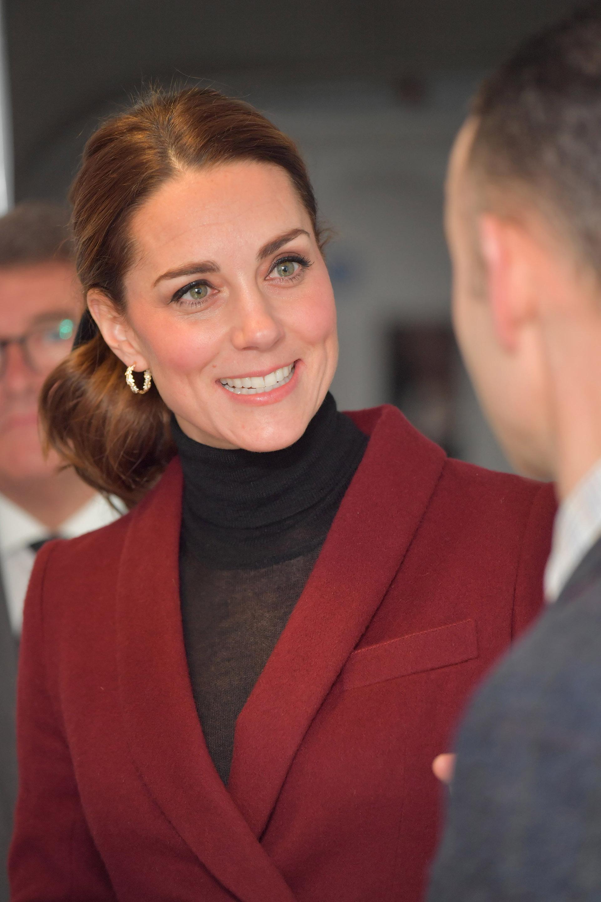 La duquesa de Cambridge a su llegada al UCL Developmental Neuroscience Laboratory, en Londres