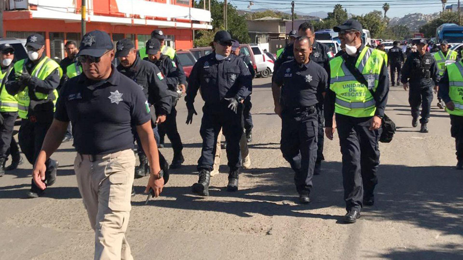 El comisionado de la Policía Federal, Manelich Castilla encabeza las acciones de la corporación en Tijuana. (Foto: Cortesía Milenio)