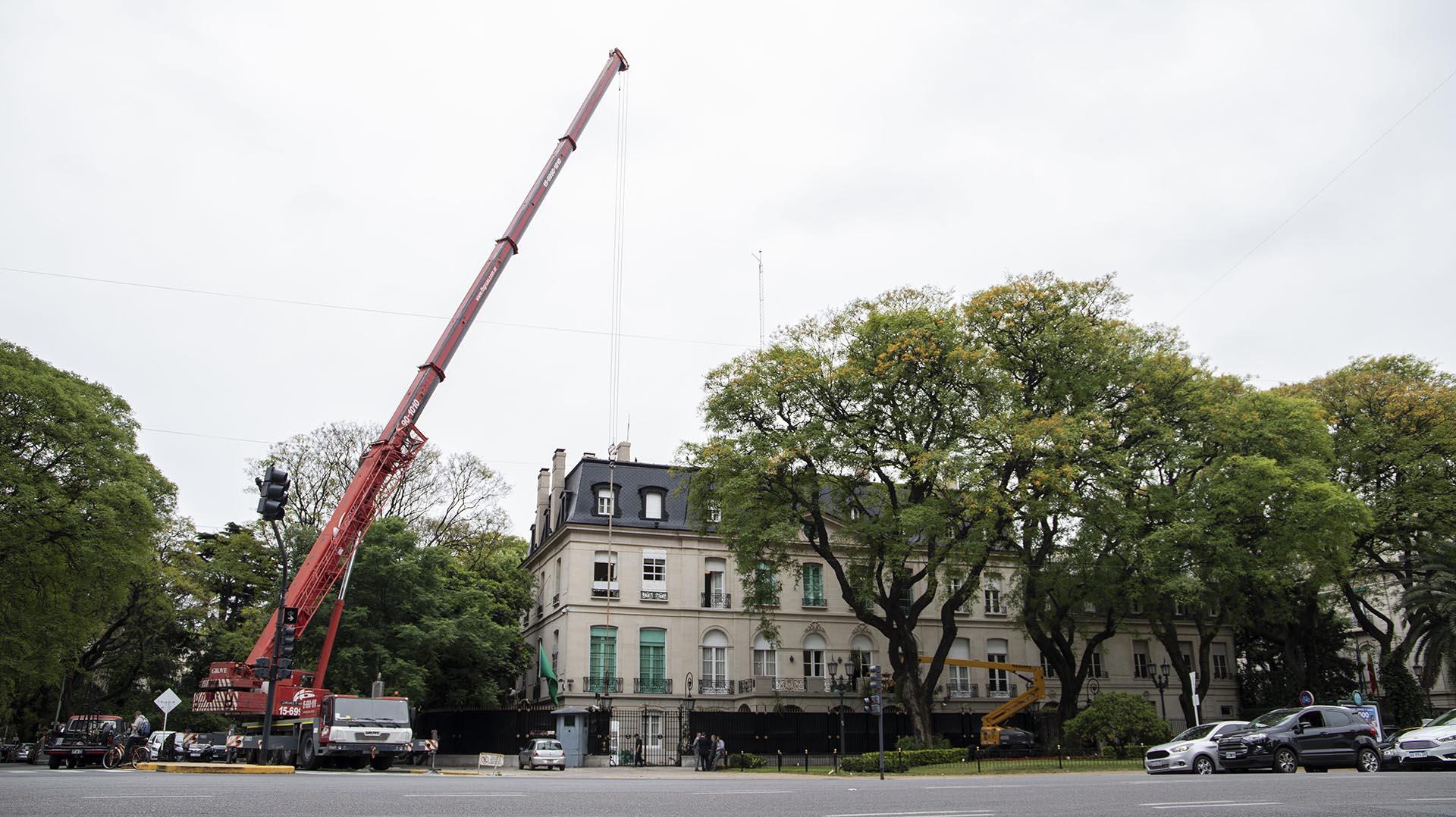 Así se blindó la Embajada Saudita en Buenos Aires (Foto: Lihue Althabe)
