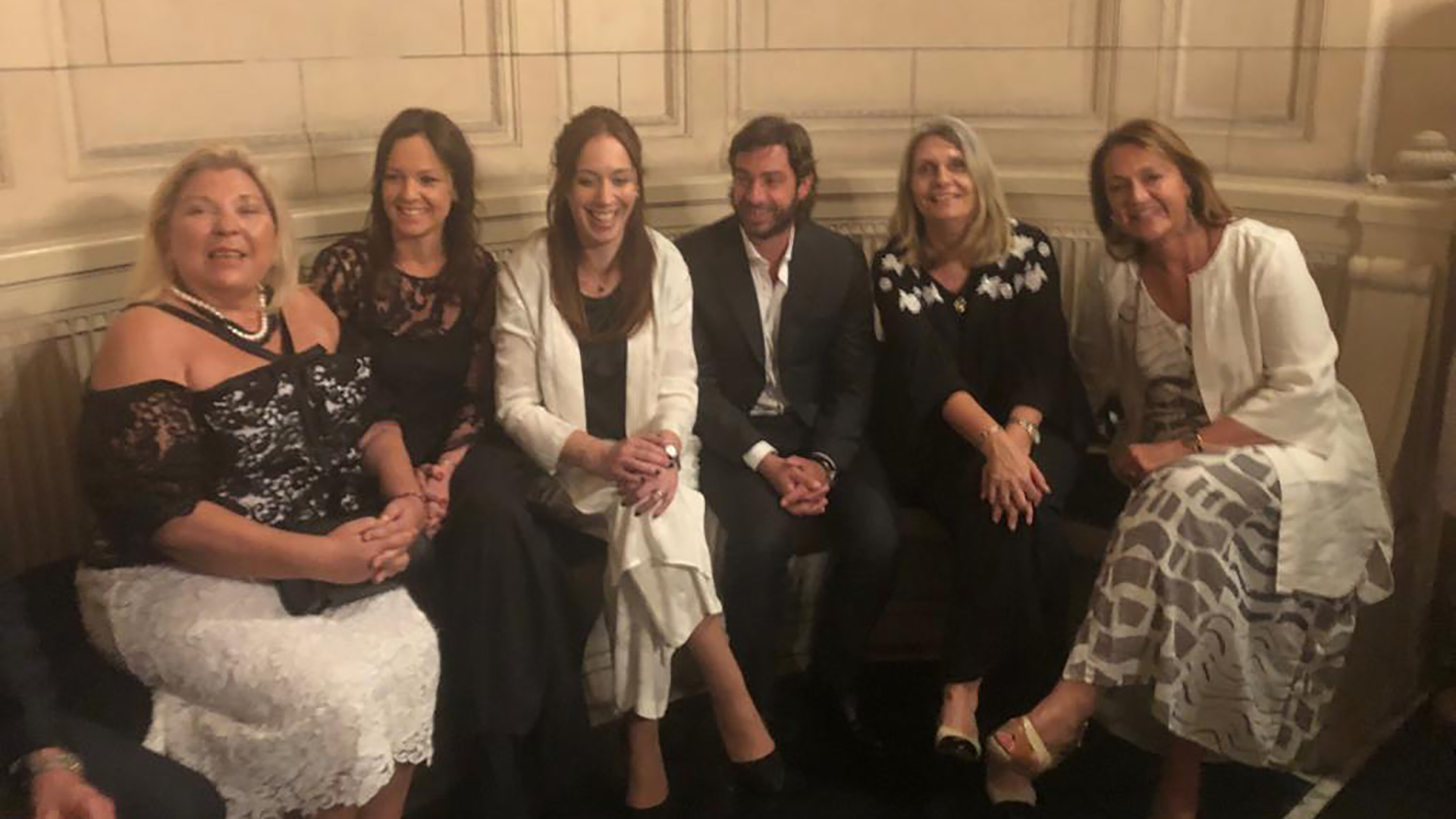 Elisa Carrió, Carolina Stanley, María Eugenia Vidal, Federico Salvay y Cornelia Schmidt