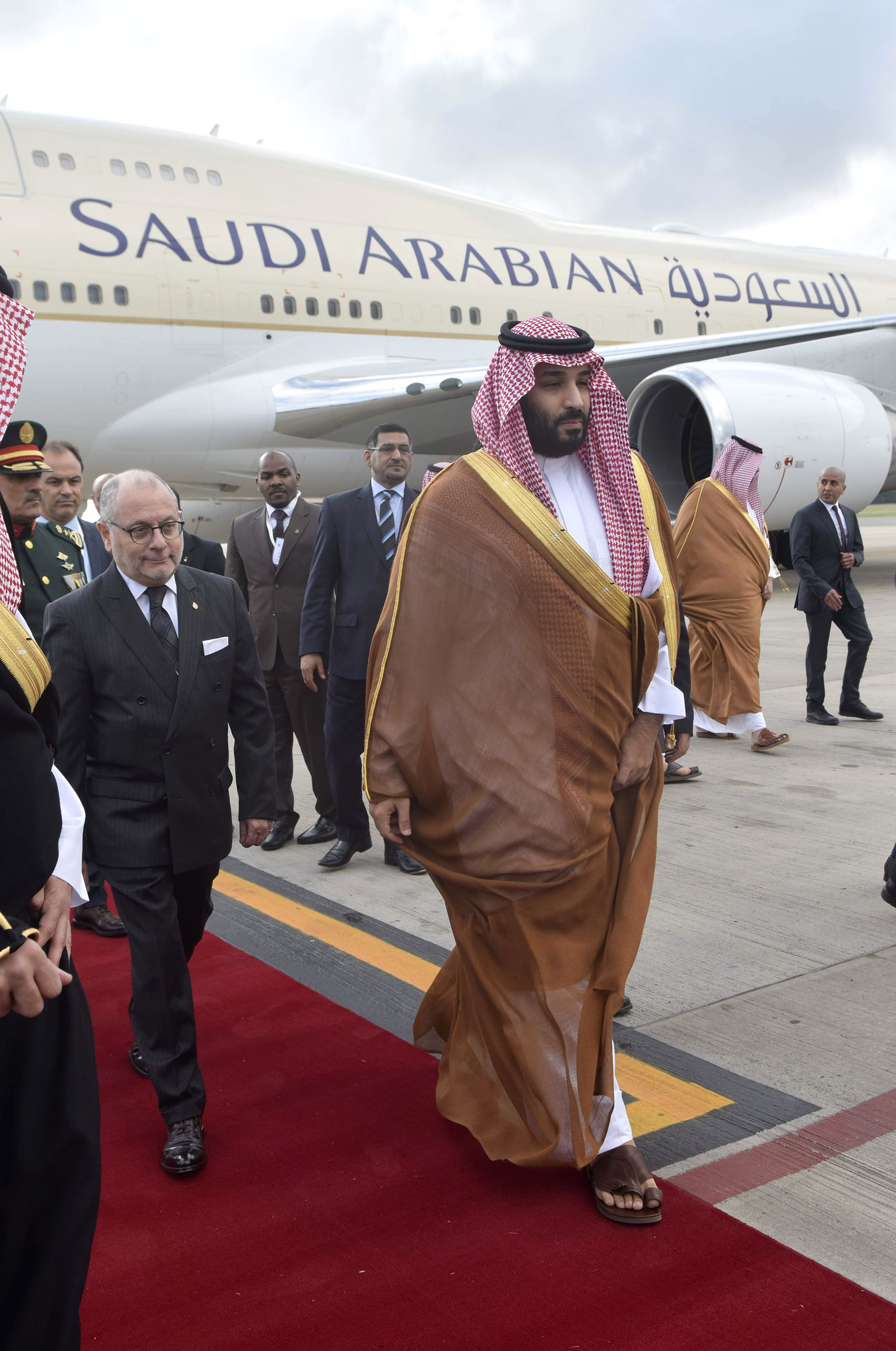 Mohammed Bin Salman fue recibido por el canciller Jorge Faurie