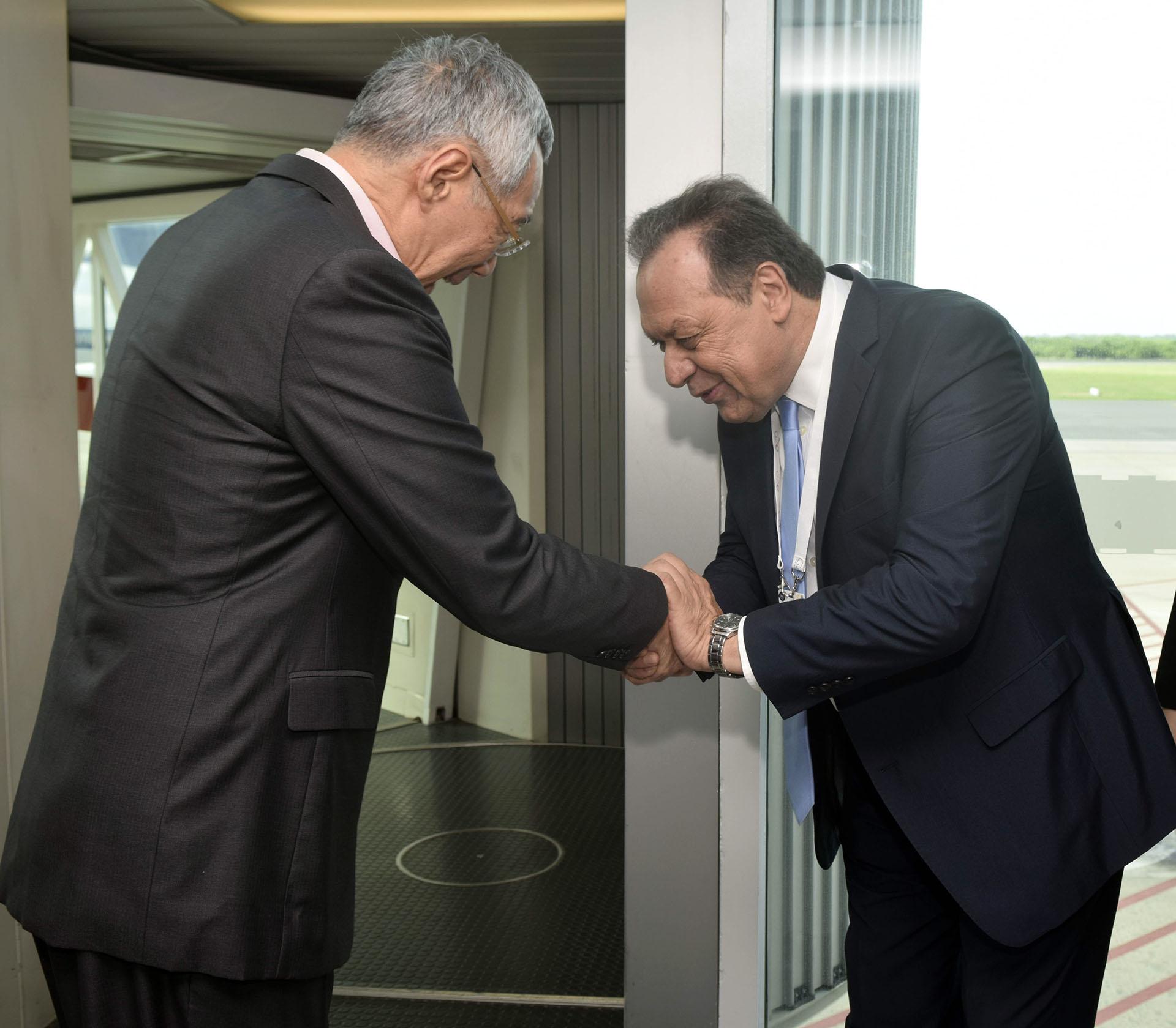 Elsecretario de turismo, Gustavo Santos, recibió al primer ministro de Singapur, Lee Hsien Loong