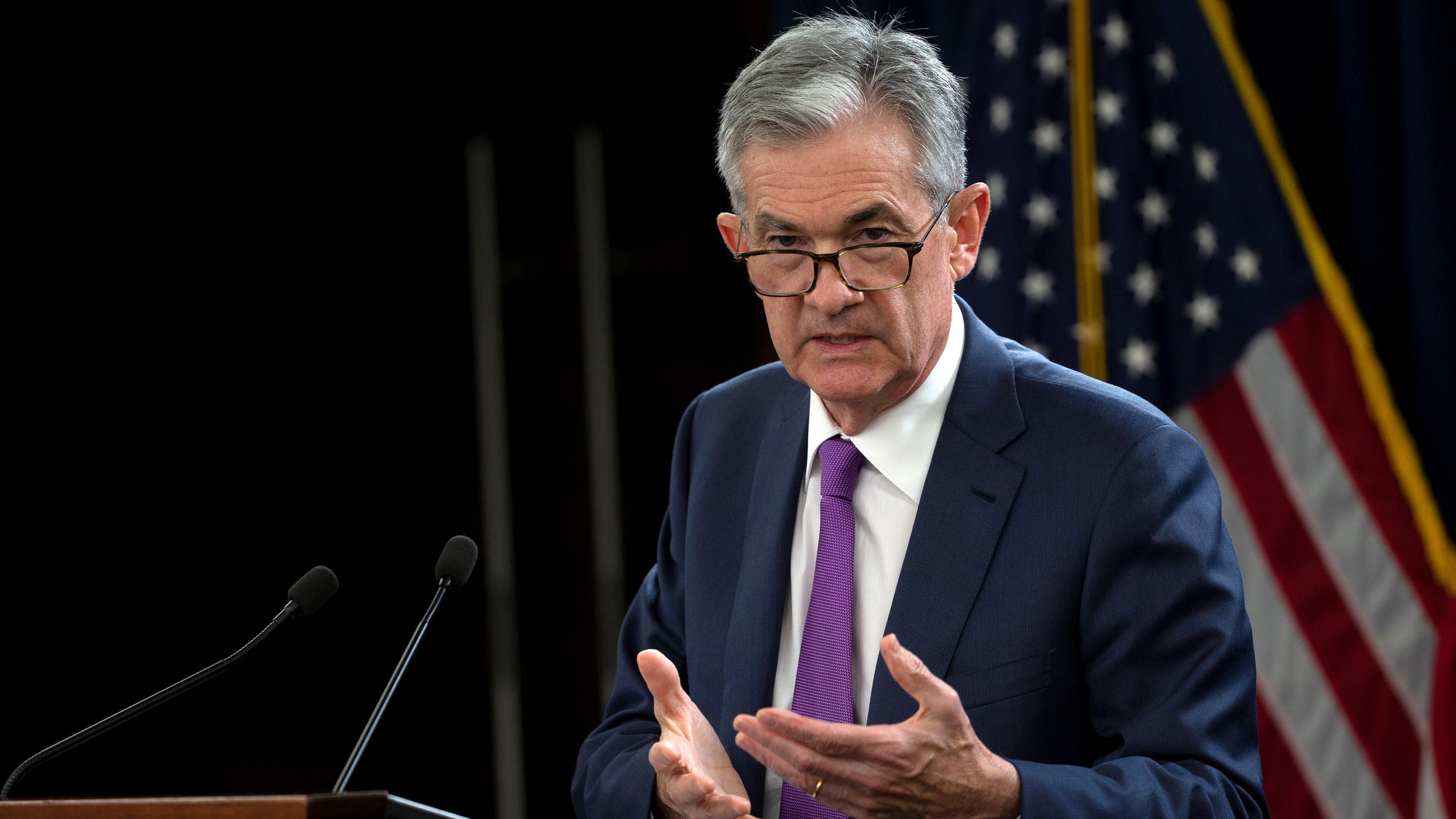 Jerome Powell, presidente de la Fed (Reuters)