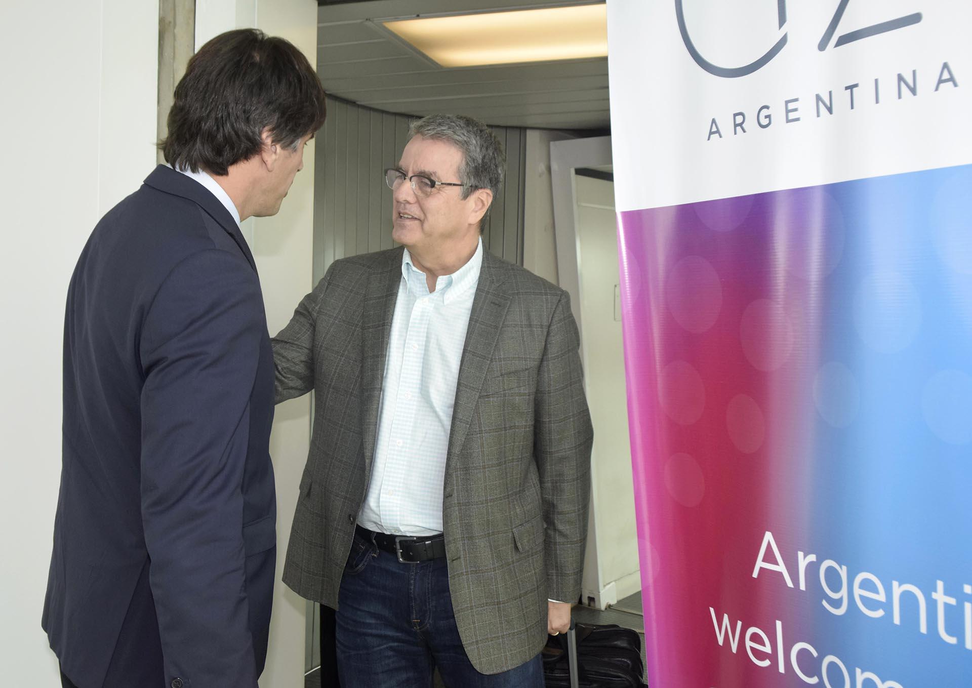Roberto Azevedo, director general de la Organización Mundial del Comercio, arribóeste jueves a la Argentina