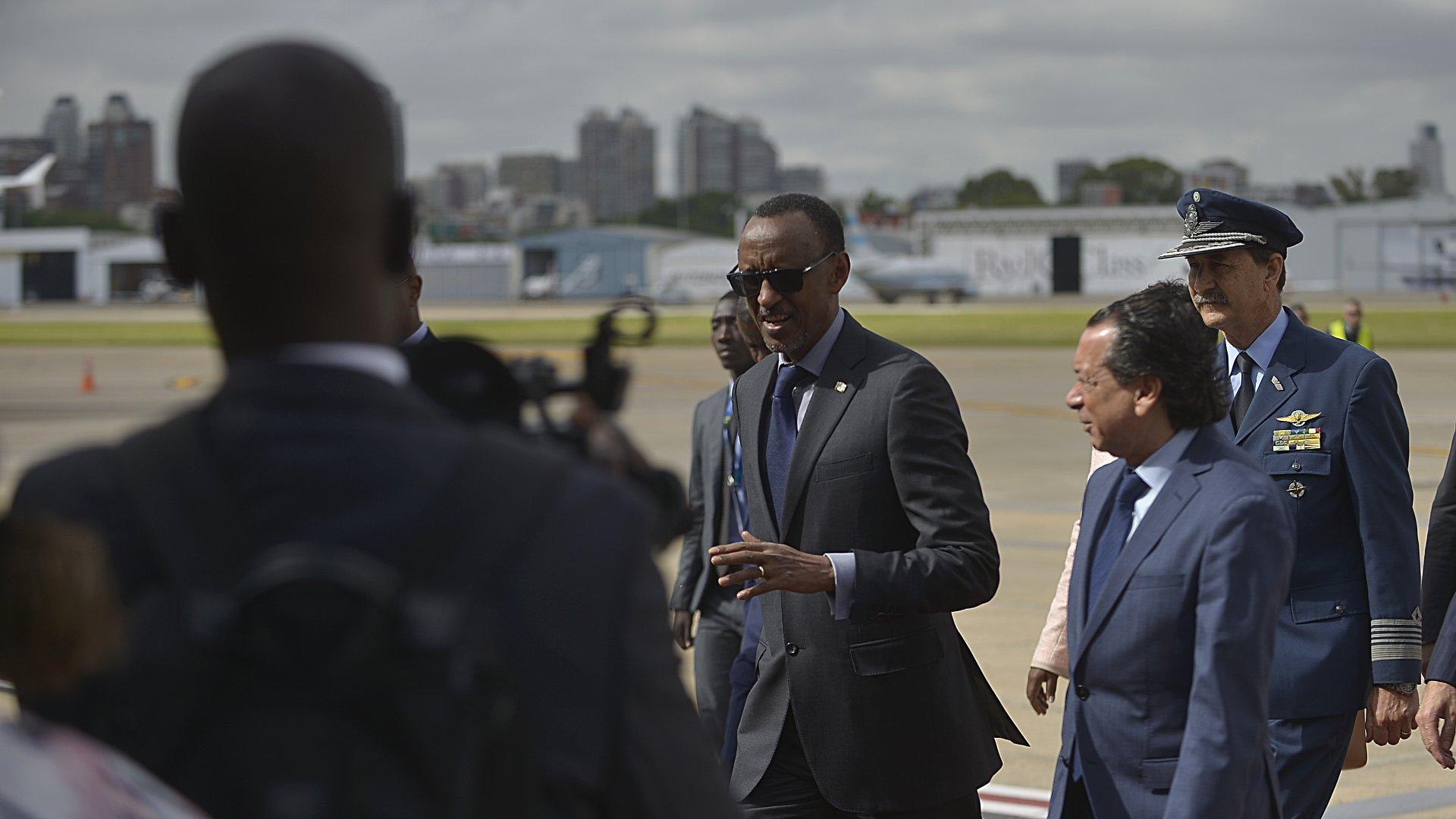 El presidente de Ruanda Paul Kagame fue recibido por Sica