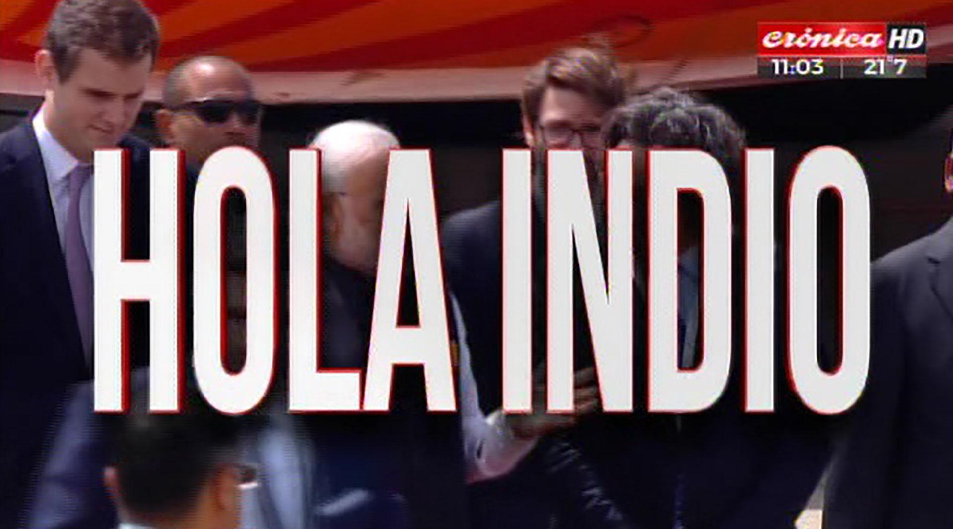 Crónica saluda al primer ministro de la India, Narendra Modi