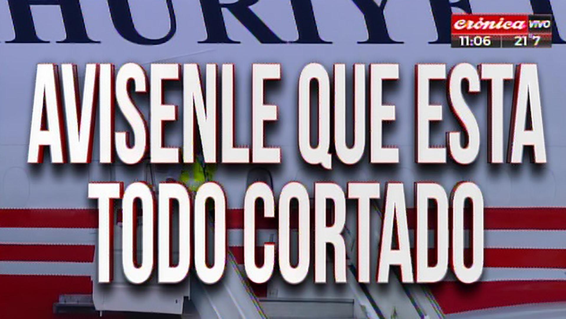 En alusión a los cortes en Buenos Aires por la cumbre