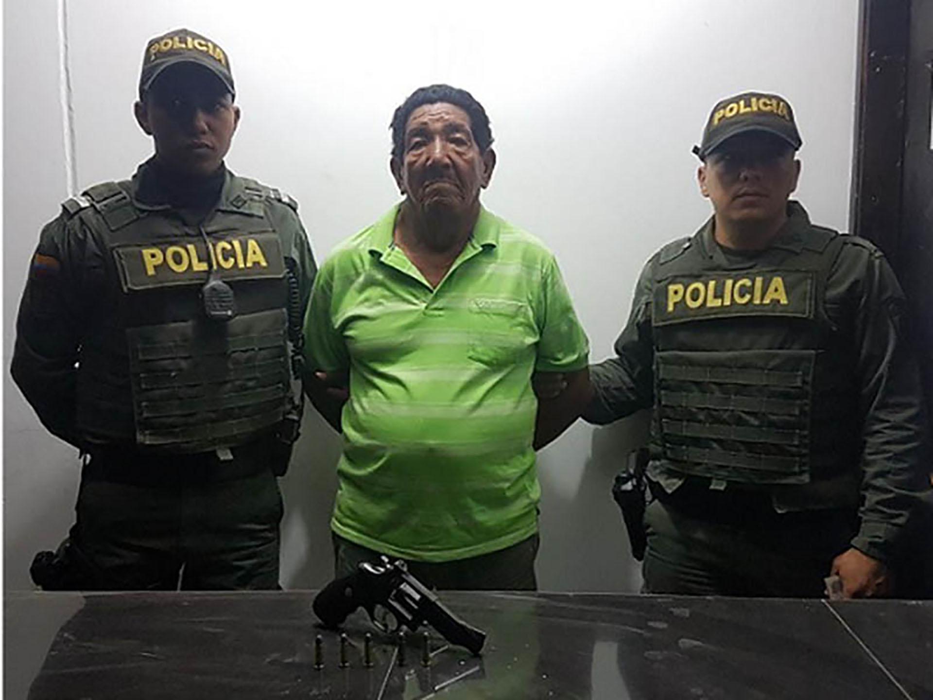 Jaime Montaño Pinedo, de 74 años, fue capturado por disparar en el rostro a una vecina en el barrio Pescaíto, de Santa Marta.