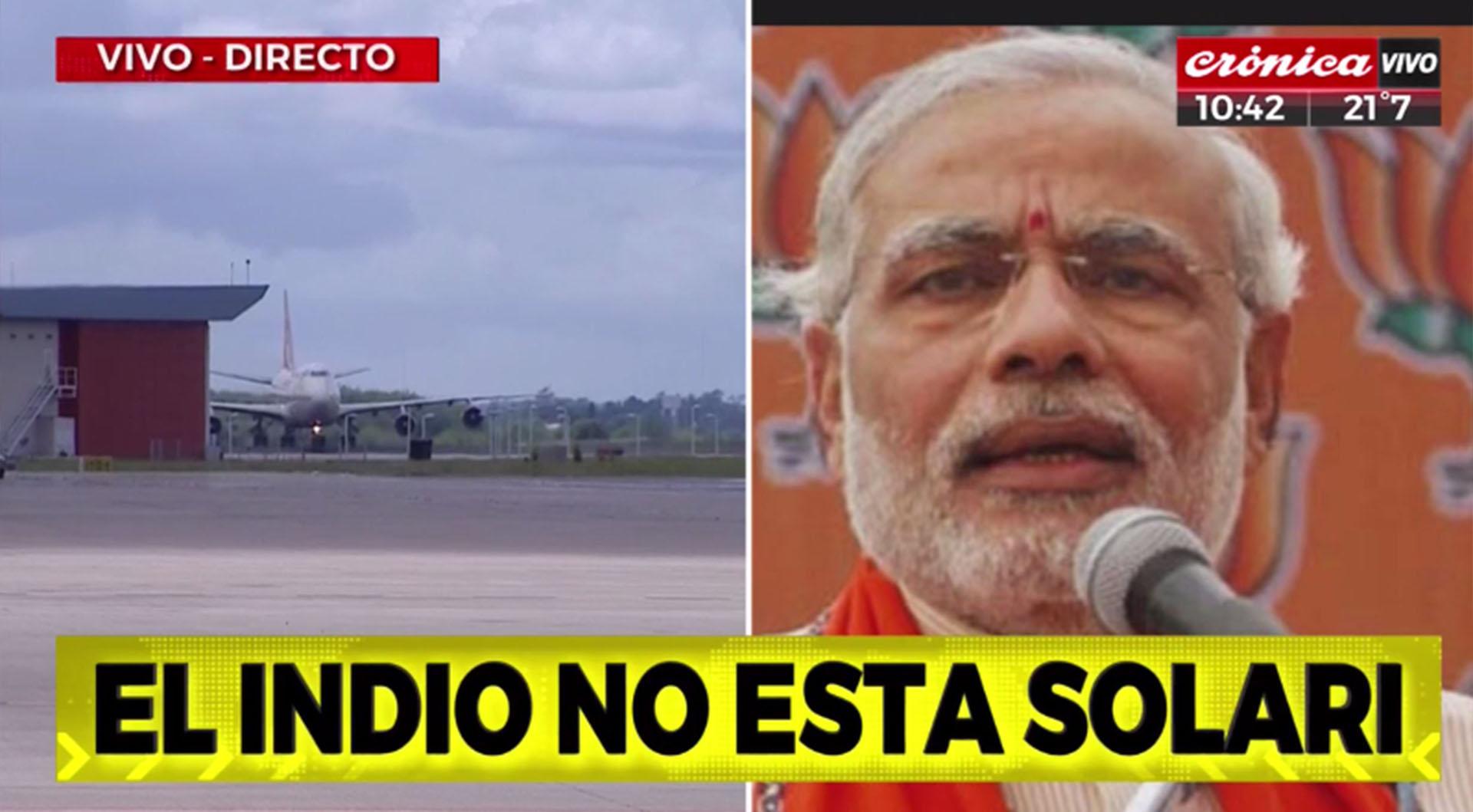Broma de Crónica, haciendo alusión al Primer Ministro de India