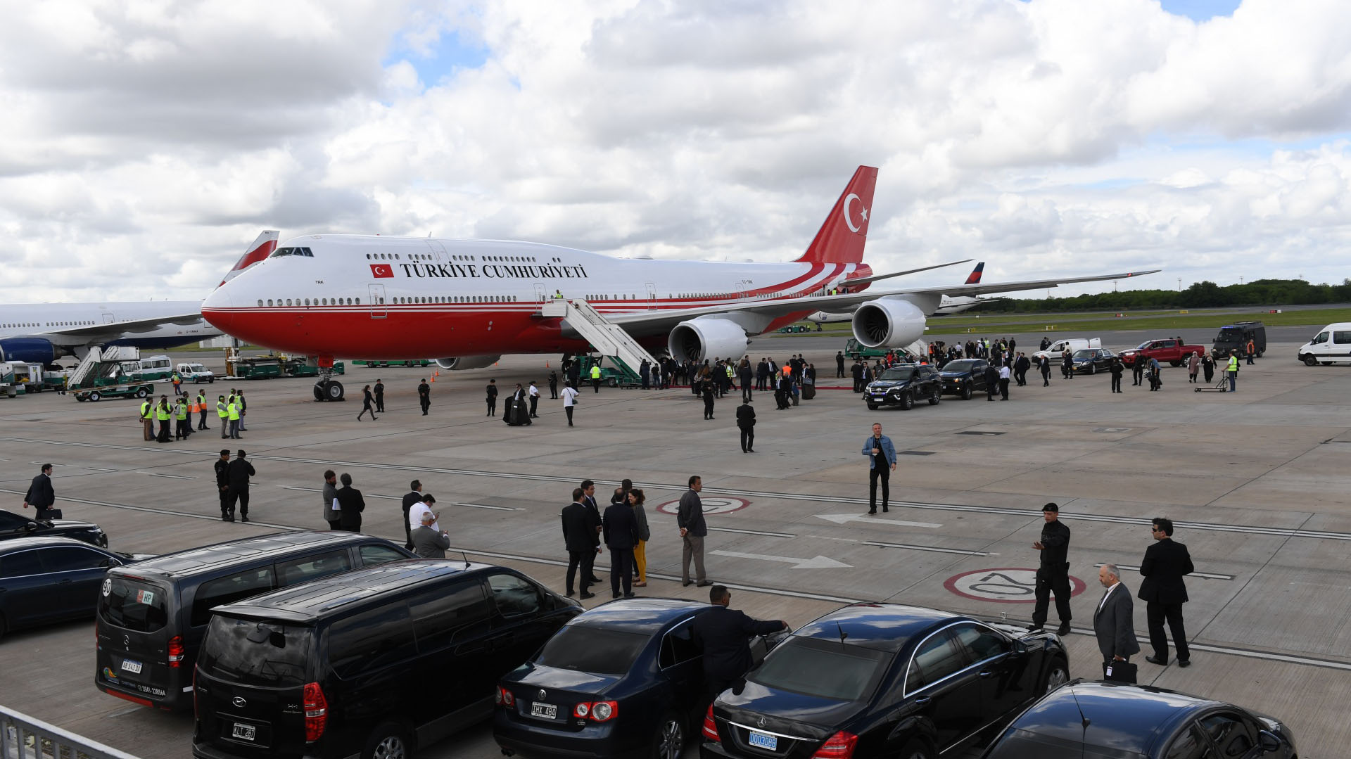 El avión de Turquía