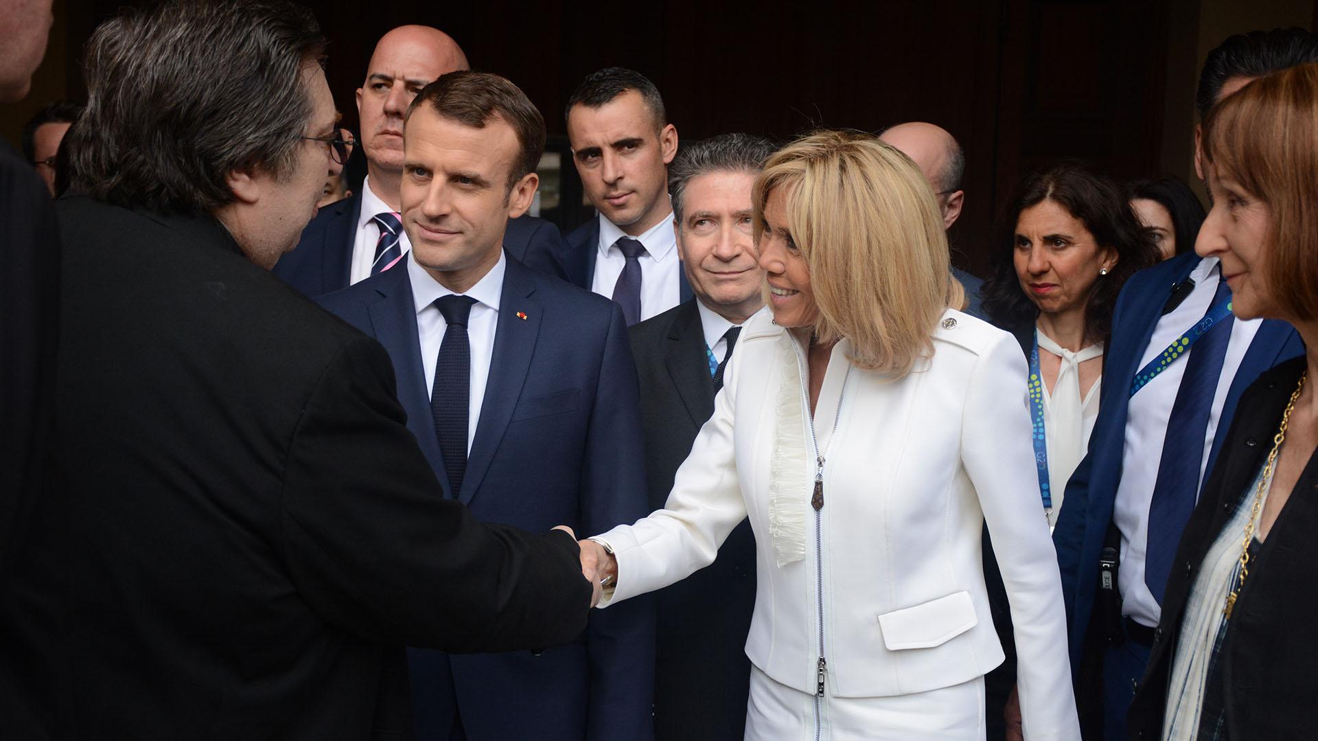 Macron y su esposa Brigite recorrieron distintos lugares de la ciudad de Buenos Aires en la previa del G20