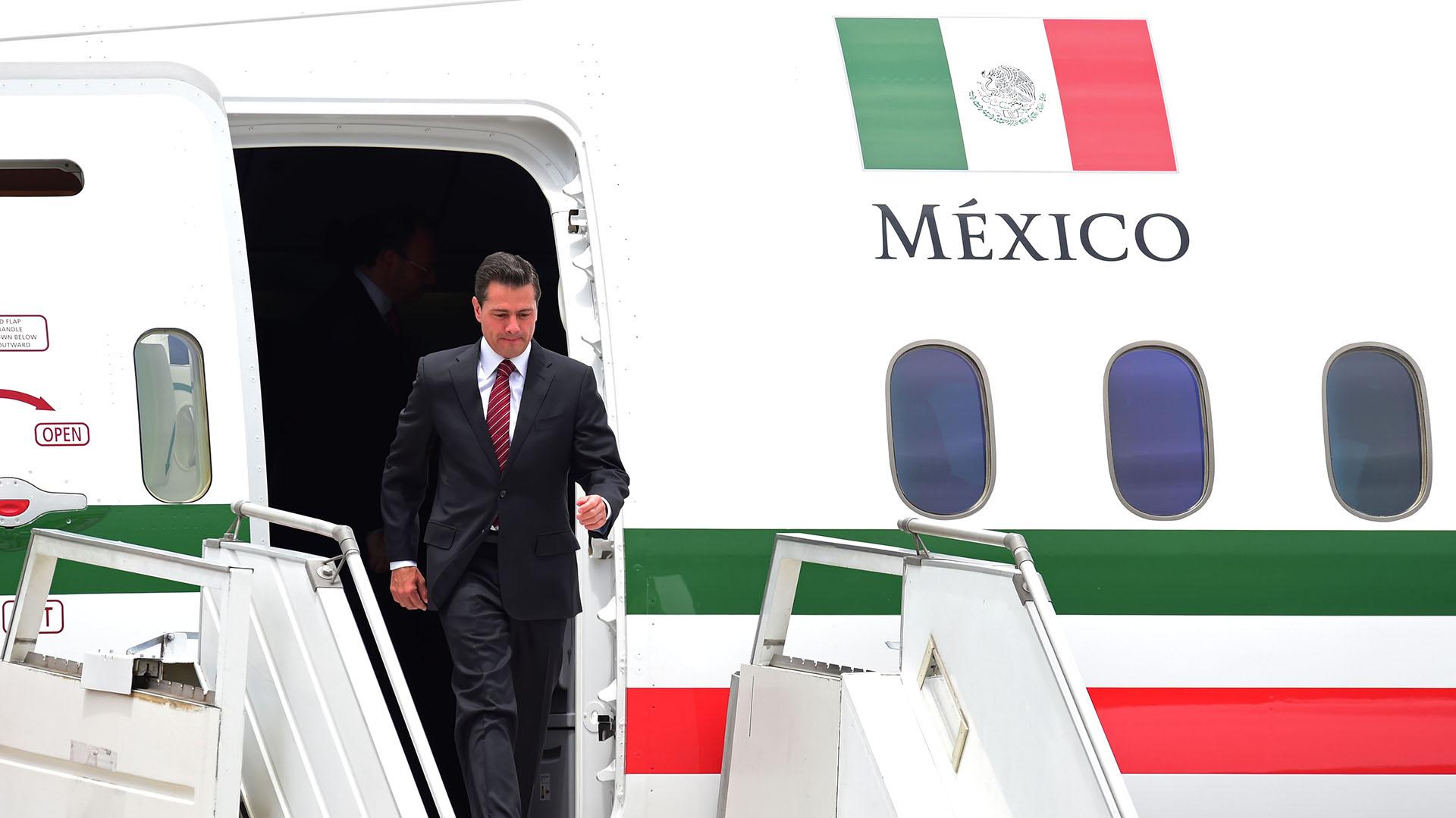 La llegada del presidente mexicano, Enrique Peña Nieto