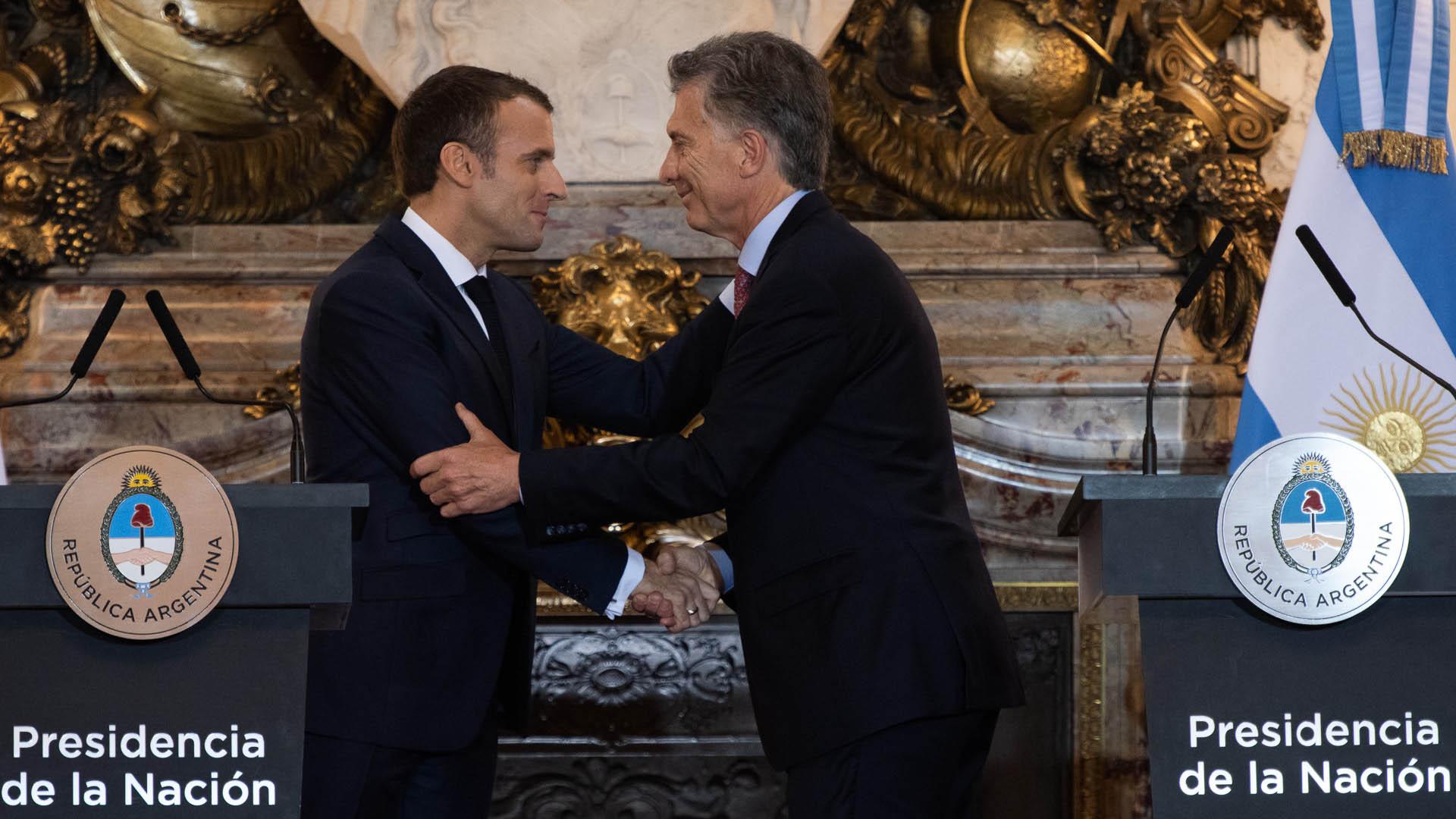 Mauricio Macri y Emmanuel Macron