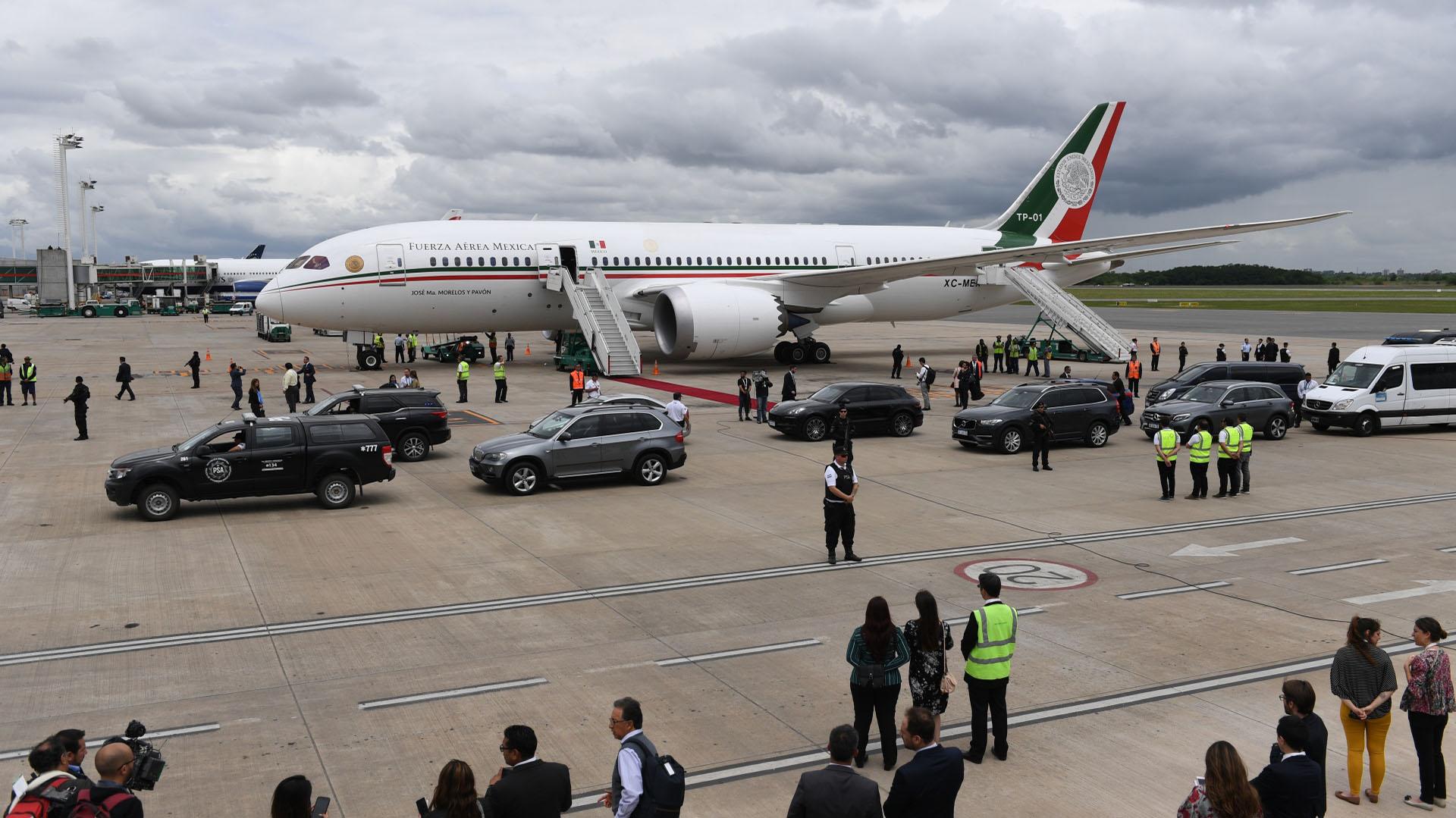 El avión de México