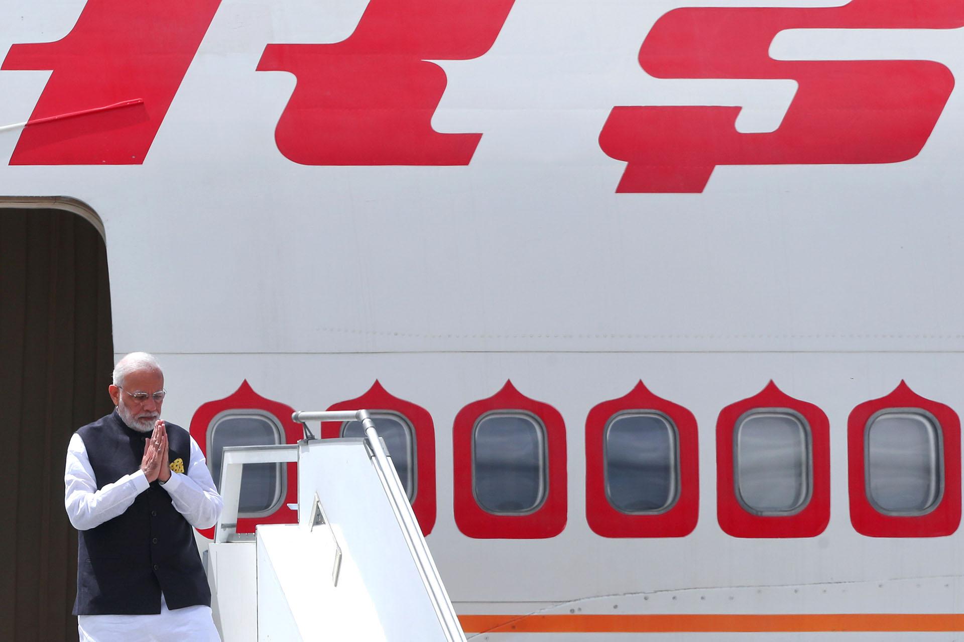 El primer ministro de India Narenda Modi también llegó este jueves(Reuters)