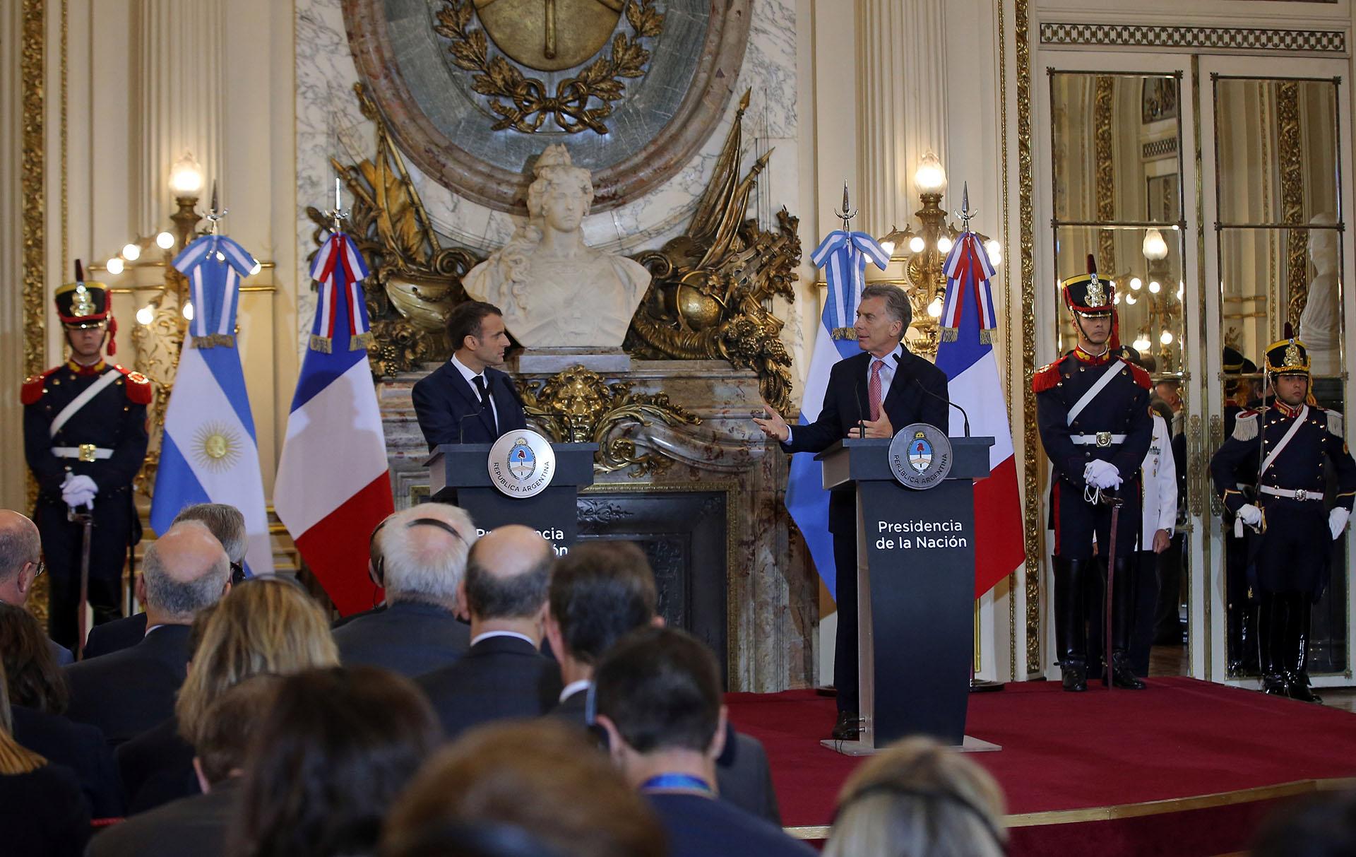 La conferencia de prensa de Macri y Macron(Reuters)