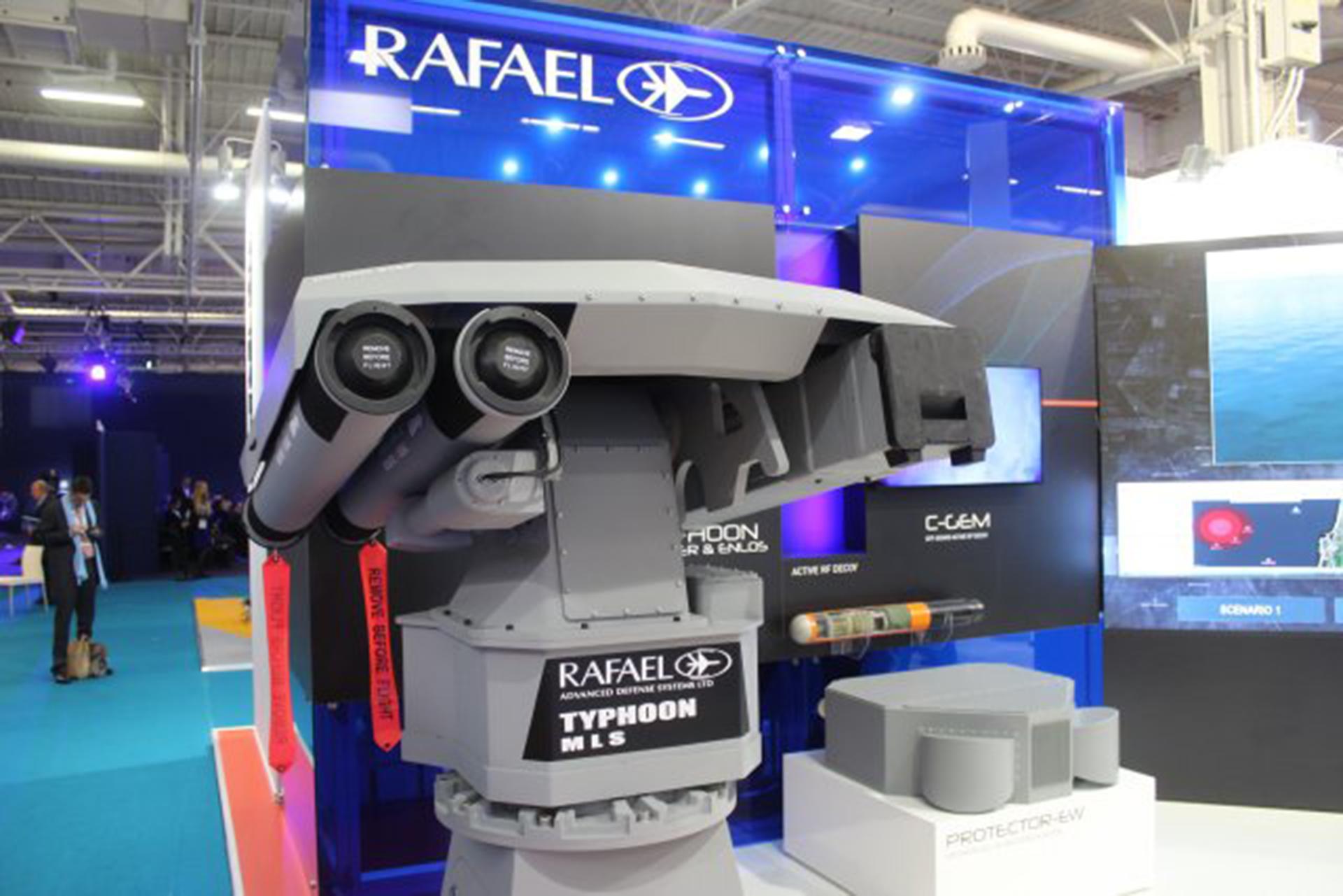 La compañía israelita Rafael ofrece soluciones de software y equipamiento de defensa