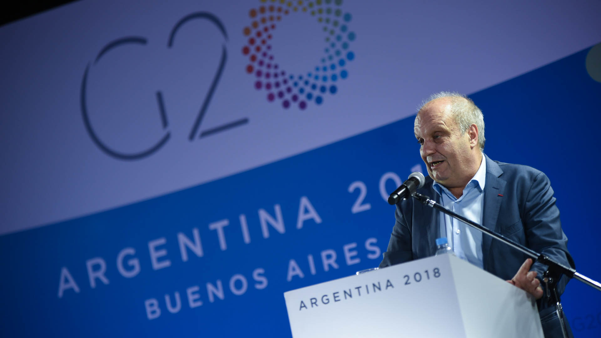 El encargado de la organización Hernán Lombardi